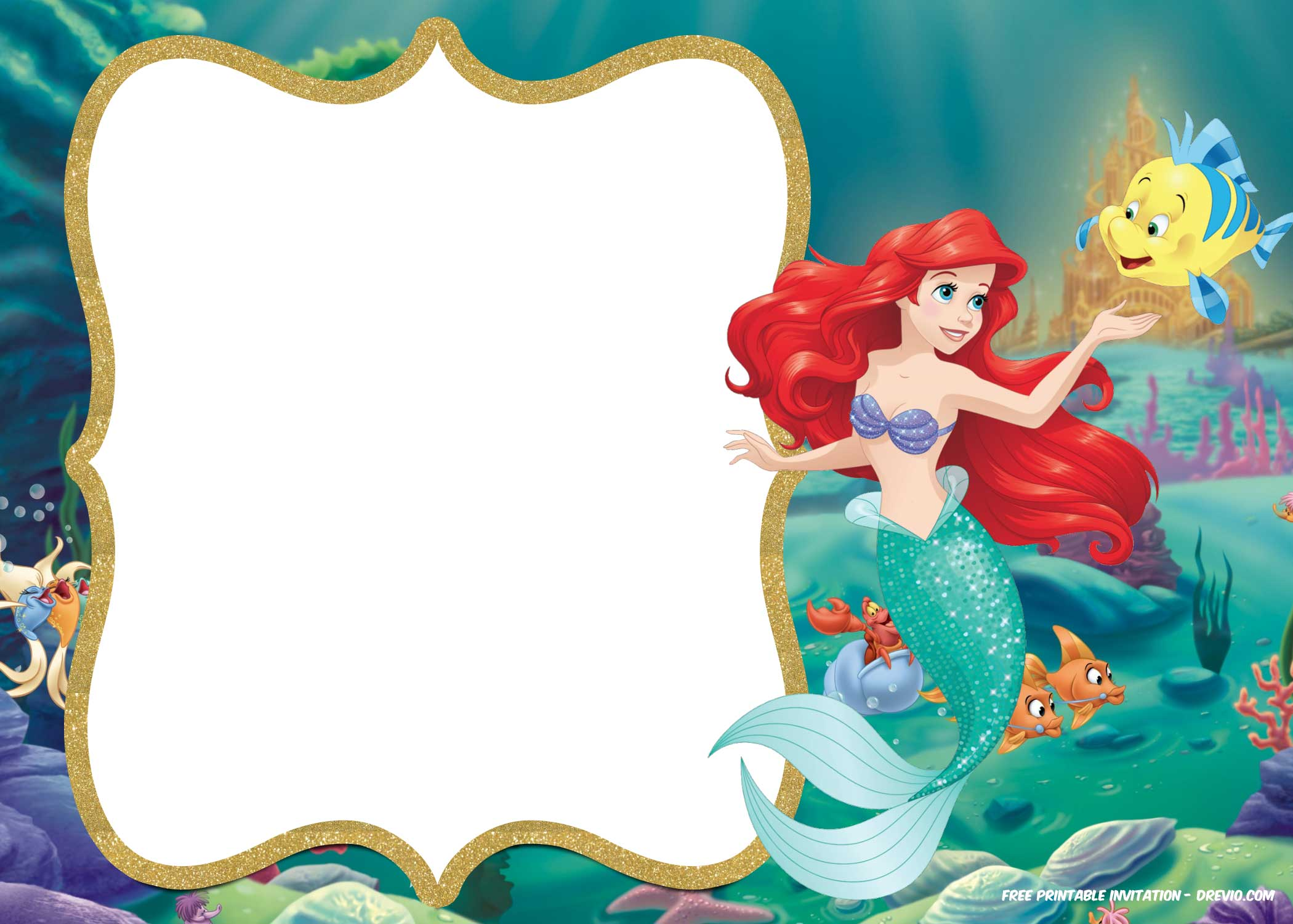 free printable ariel the little mermaid