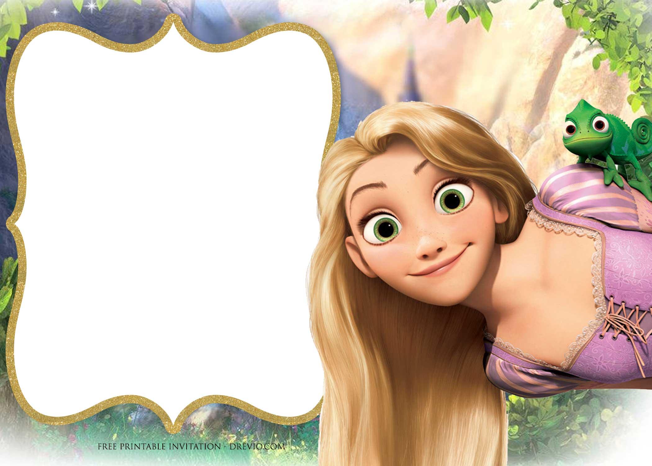 Free Printable Princess Rapunzel Invitation Templates Free Invitation Templates