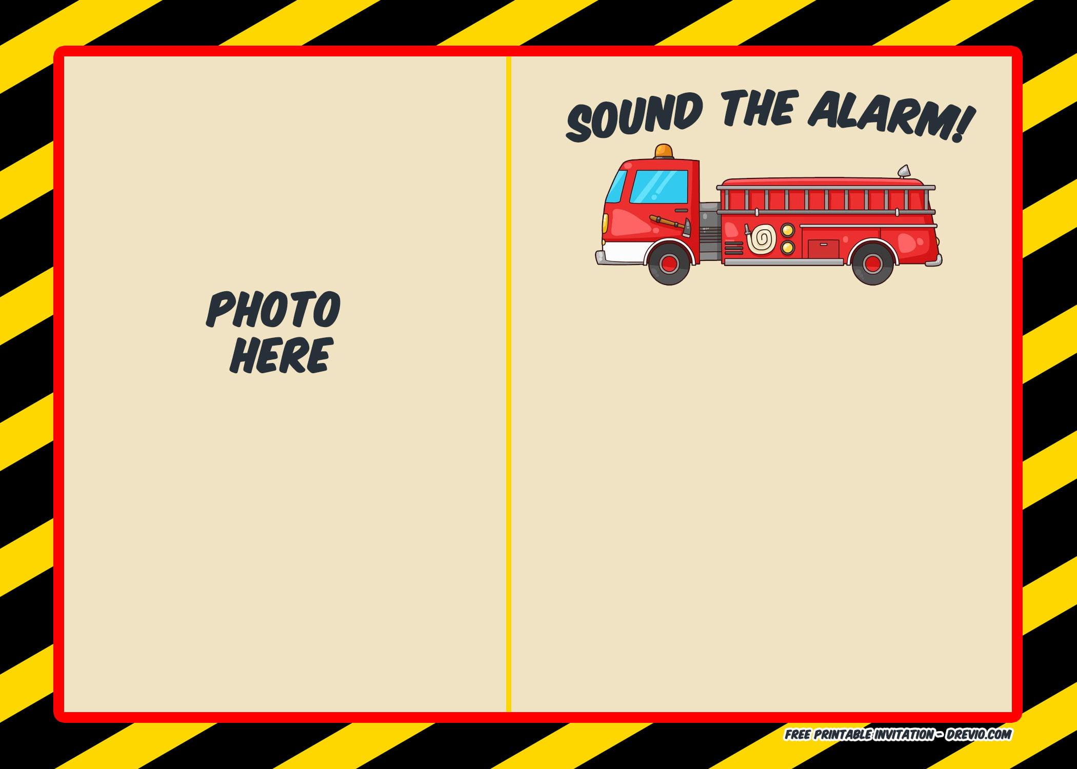 free printable firefighter birthday
