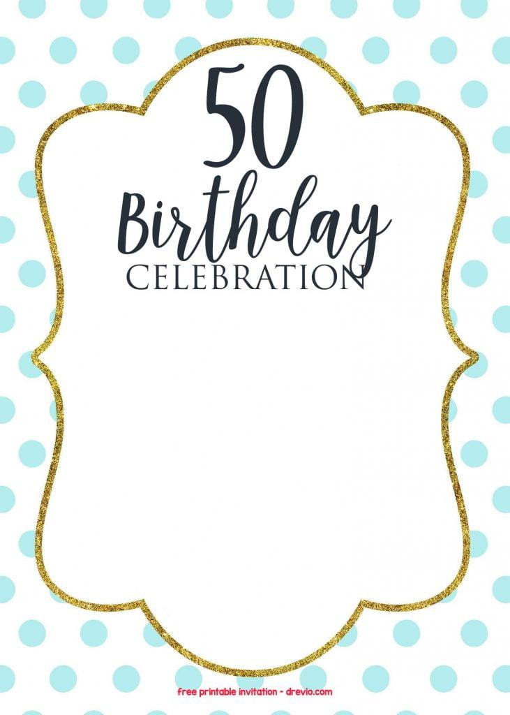 50th Birthday Clip Art Borders
