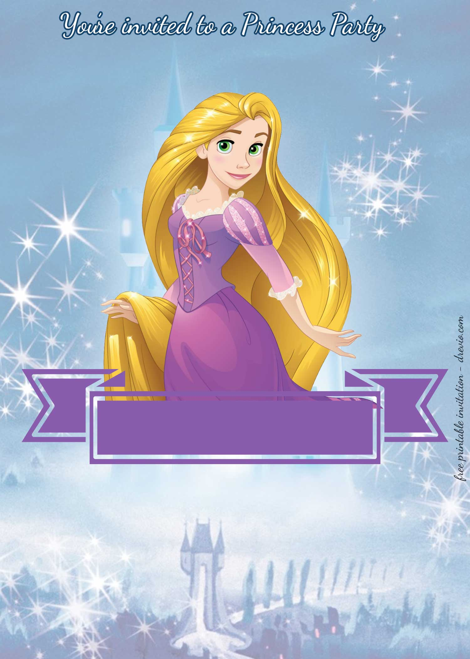 princess tiana invitation template free