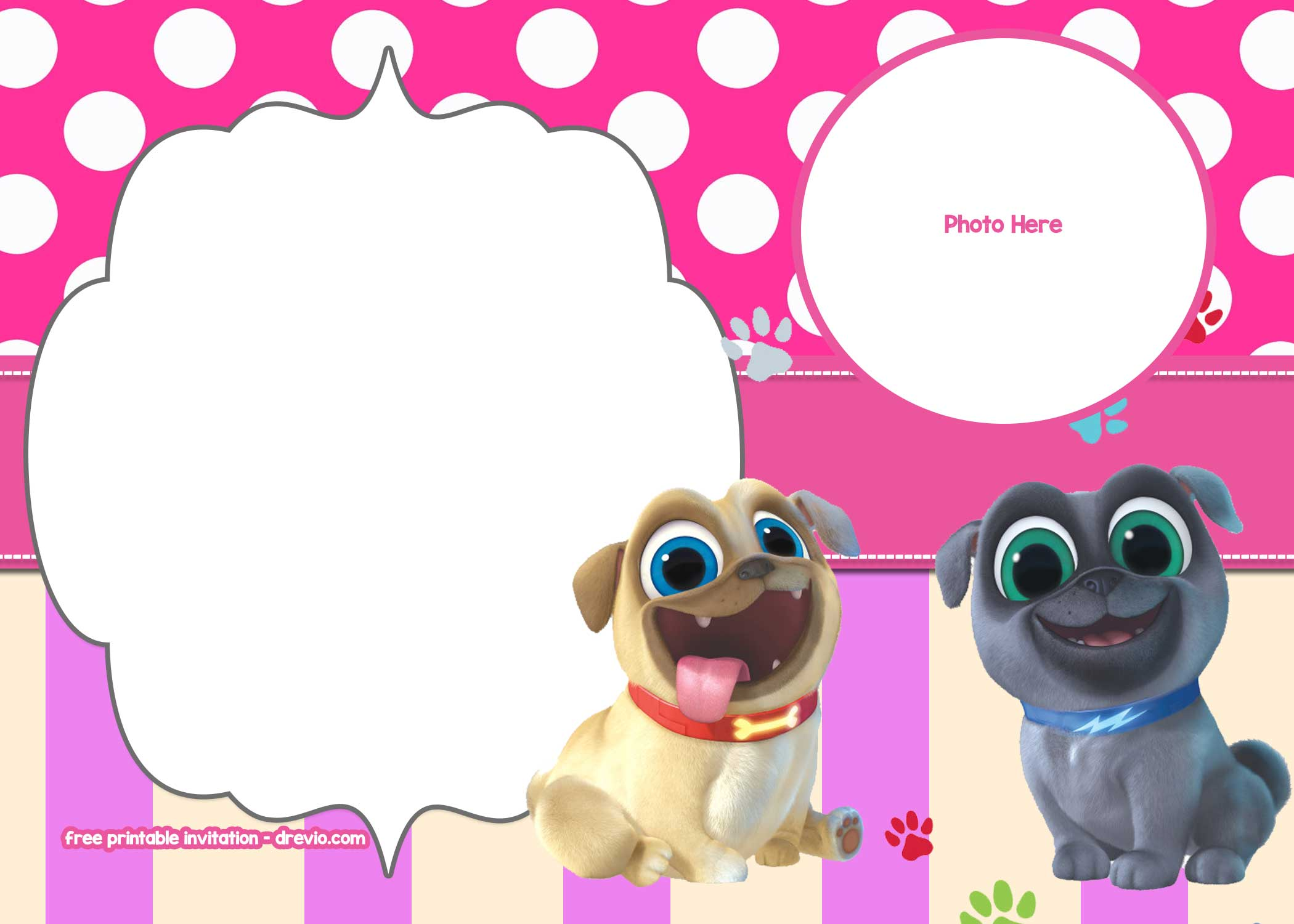 Free Disney Puppy Dog Pals Invitation Templates