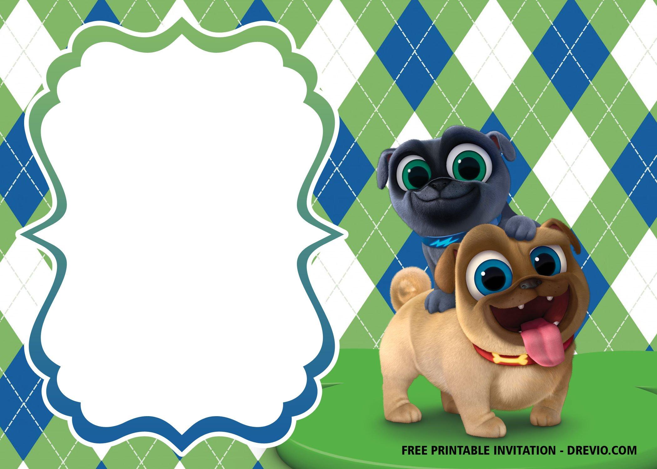 free disney puppy dog pals invitation