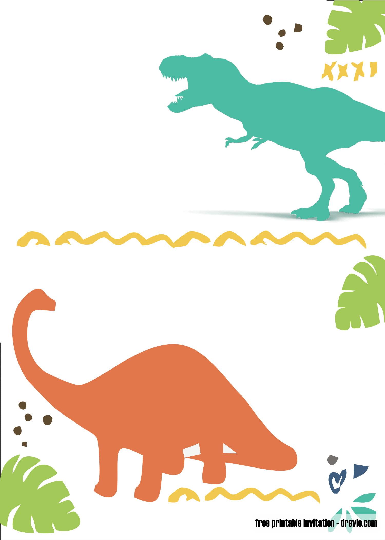 Free Printable Dinosaur Invitation Template