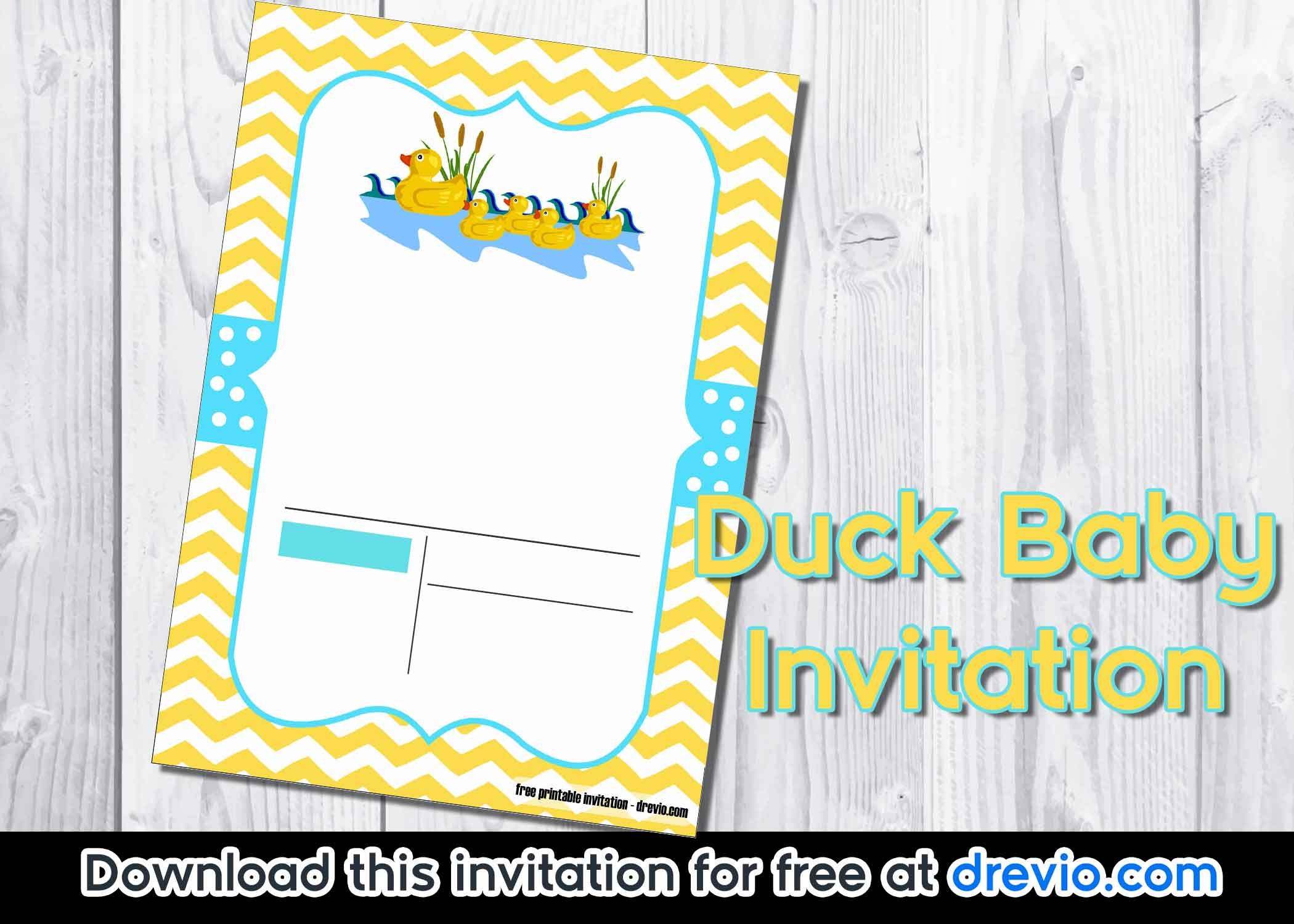 Free Duck Baby Shower Invitation Template Free Invitation Templates
