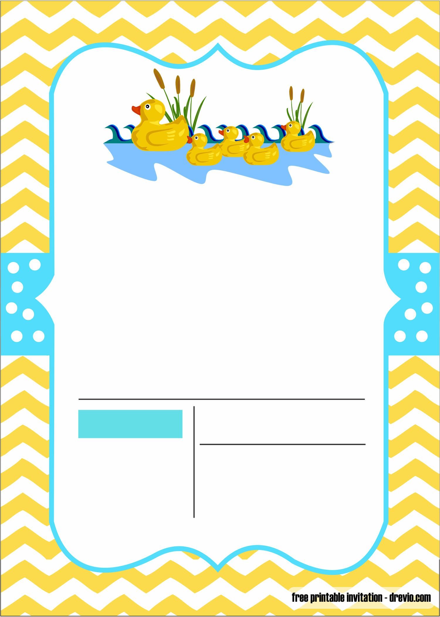 Free Duck Baby Shower Invitation Template Free Invitation Templates