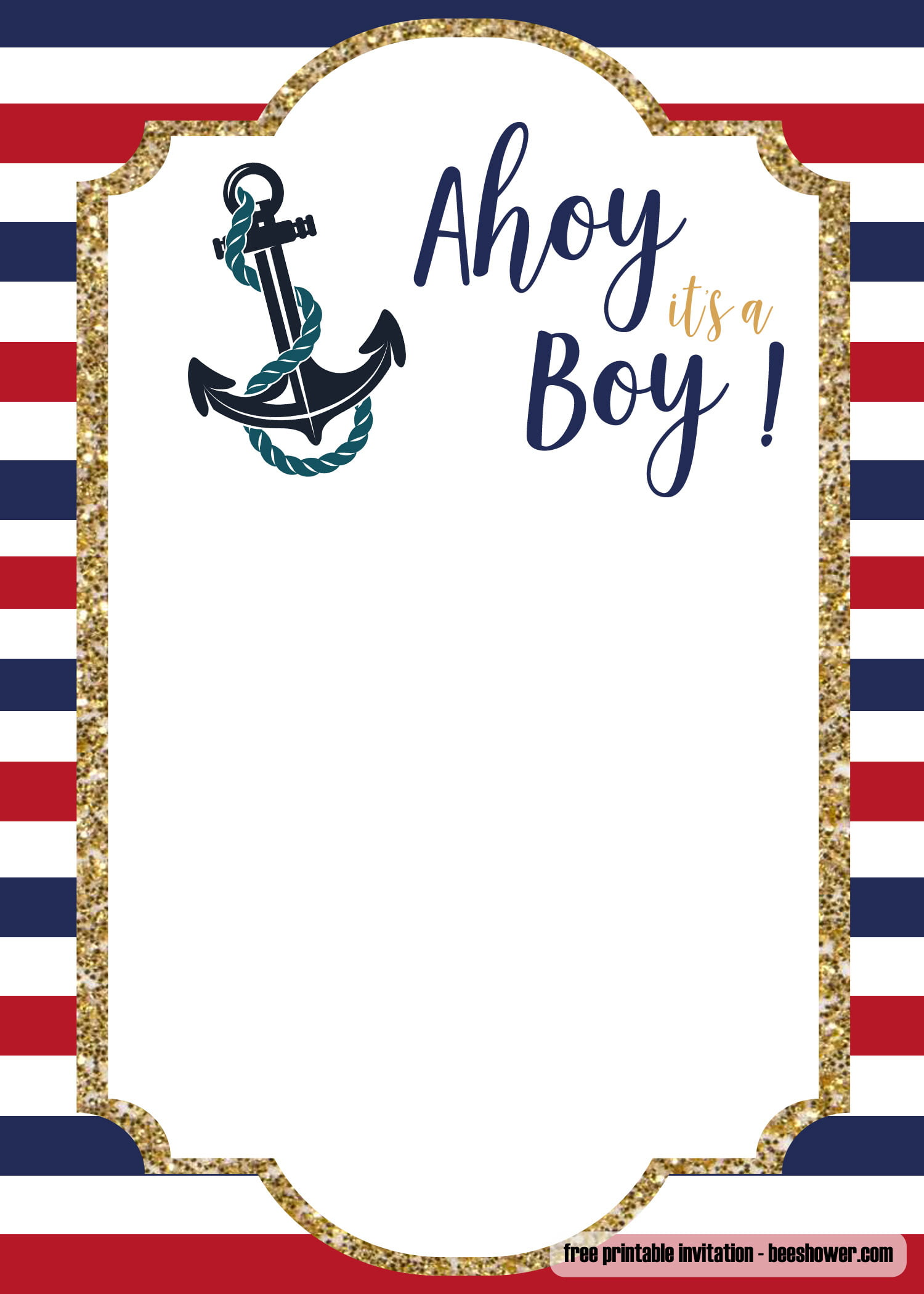 Free Nautical Baby Shower Invitations Templates Free Invitation Templates