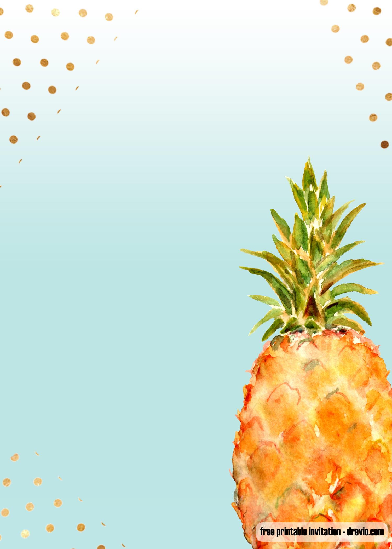 FREE Printable Aloha Pineapple Birthday Invitation Templates FREE Invitation Templates Drevio