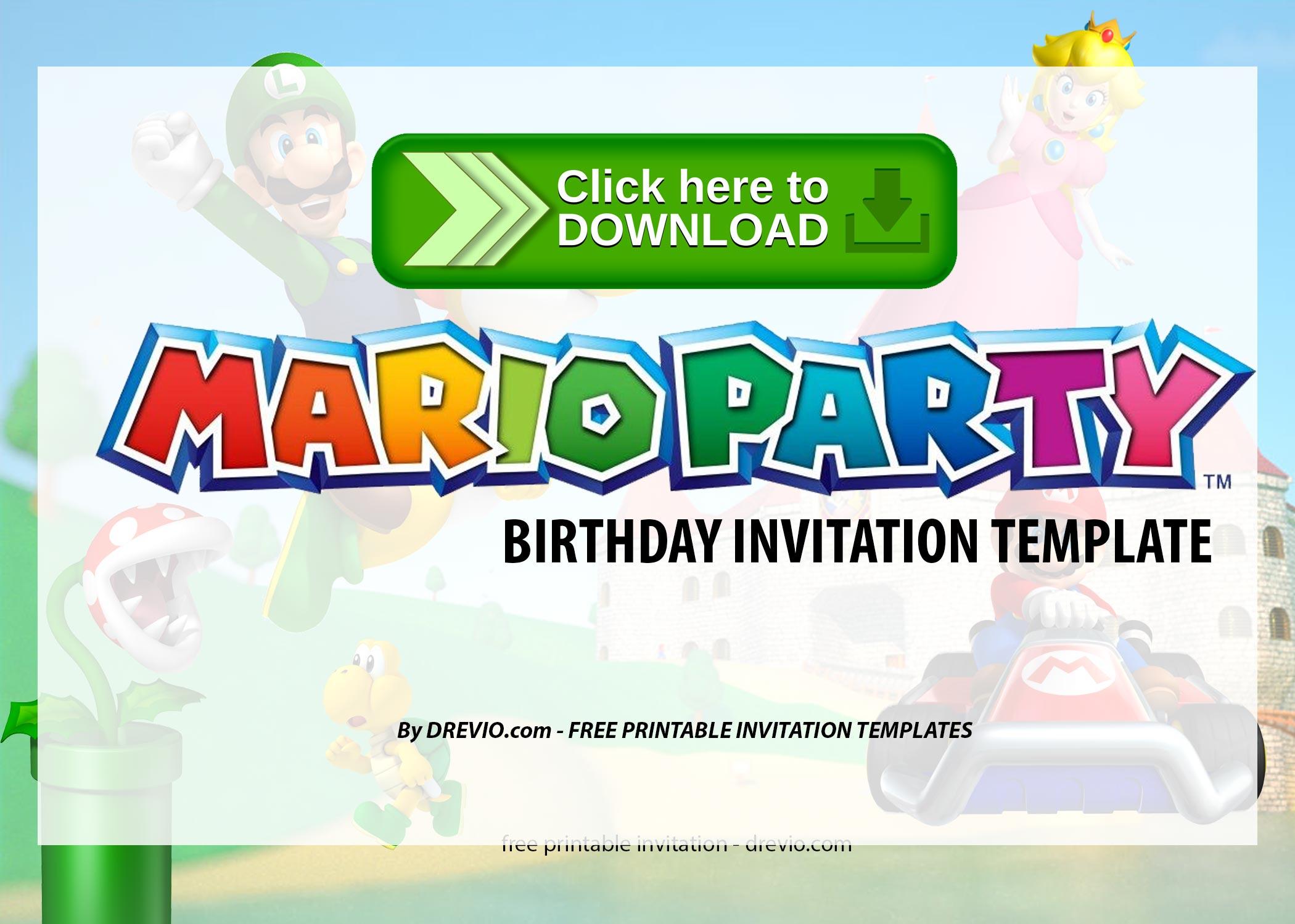 free printable super mario party