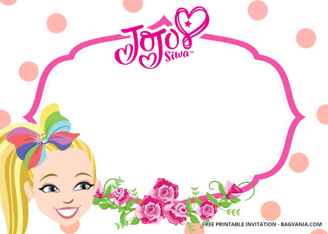 FREE Jojo Siwa Birthday Invitation Templates FREE Invitation Templates Drevio