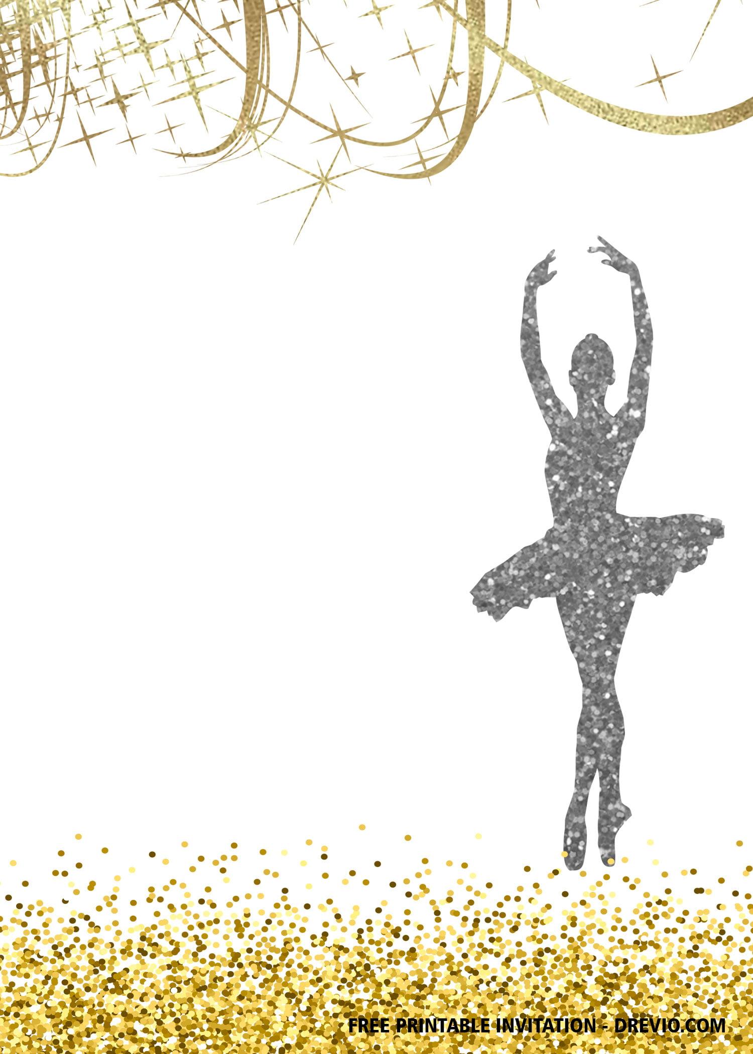 Free Printable Ballet Birthday Invitation Templates