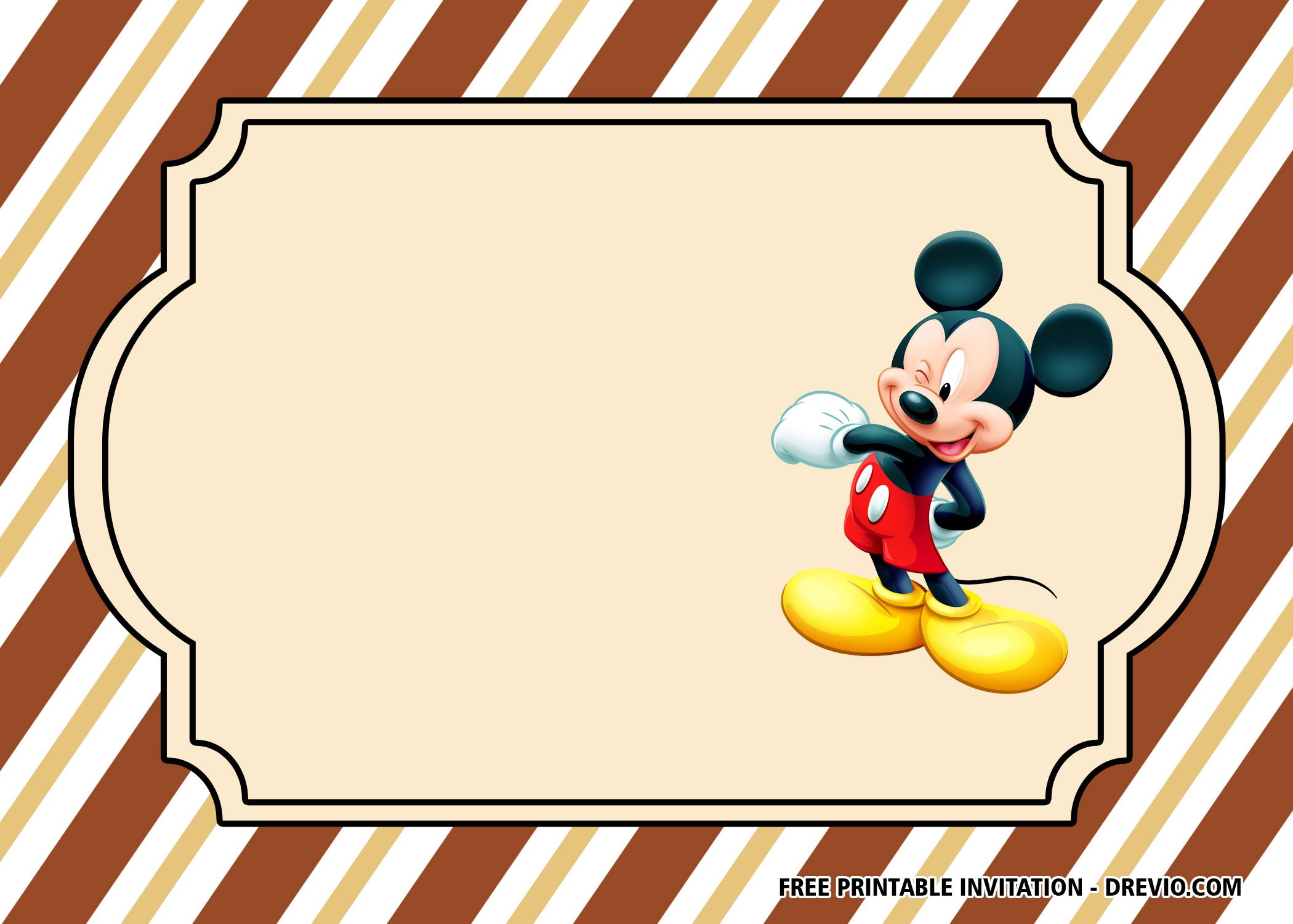 Free Classic Mickey Mouse Invitation Templates Free