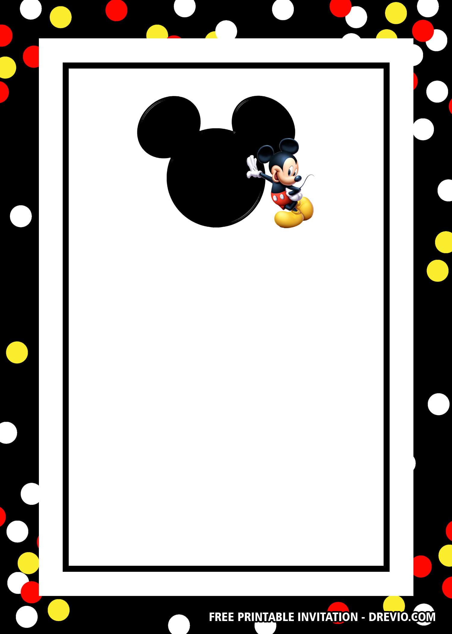 Free Mickey Mouse Head Invitation Templates