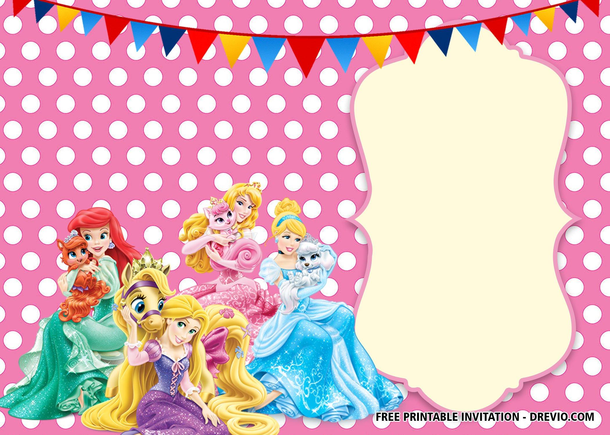 free printable disney princess polkadot