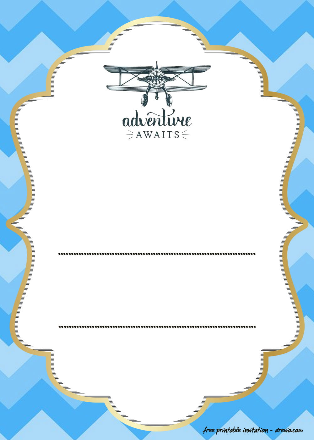 10 free printable airplane invitation