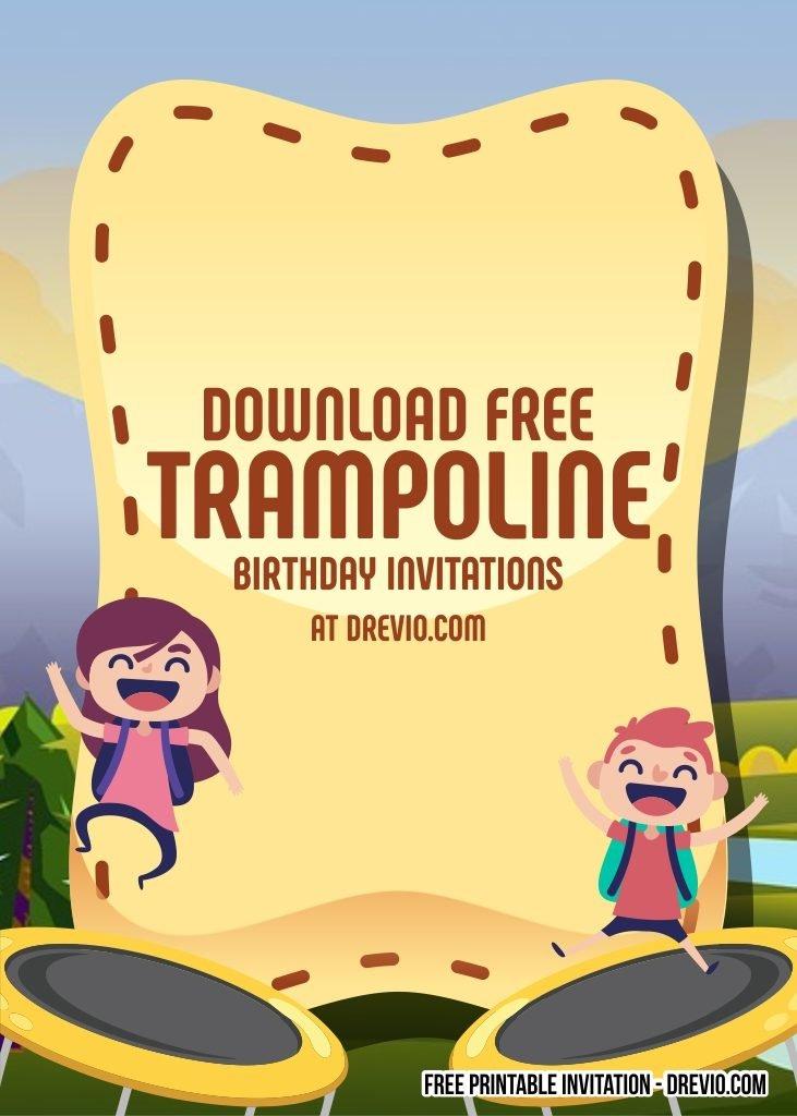 free trampoline invitation templates