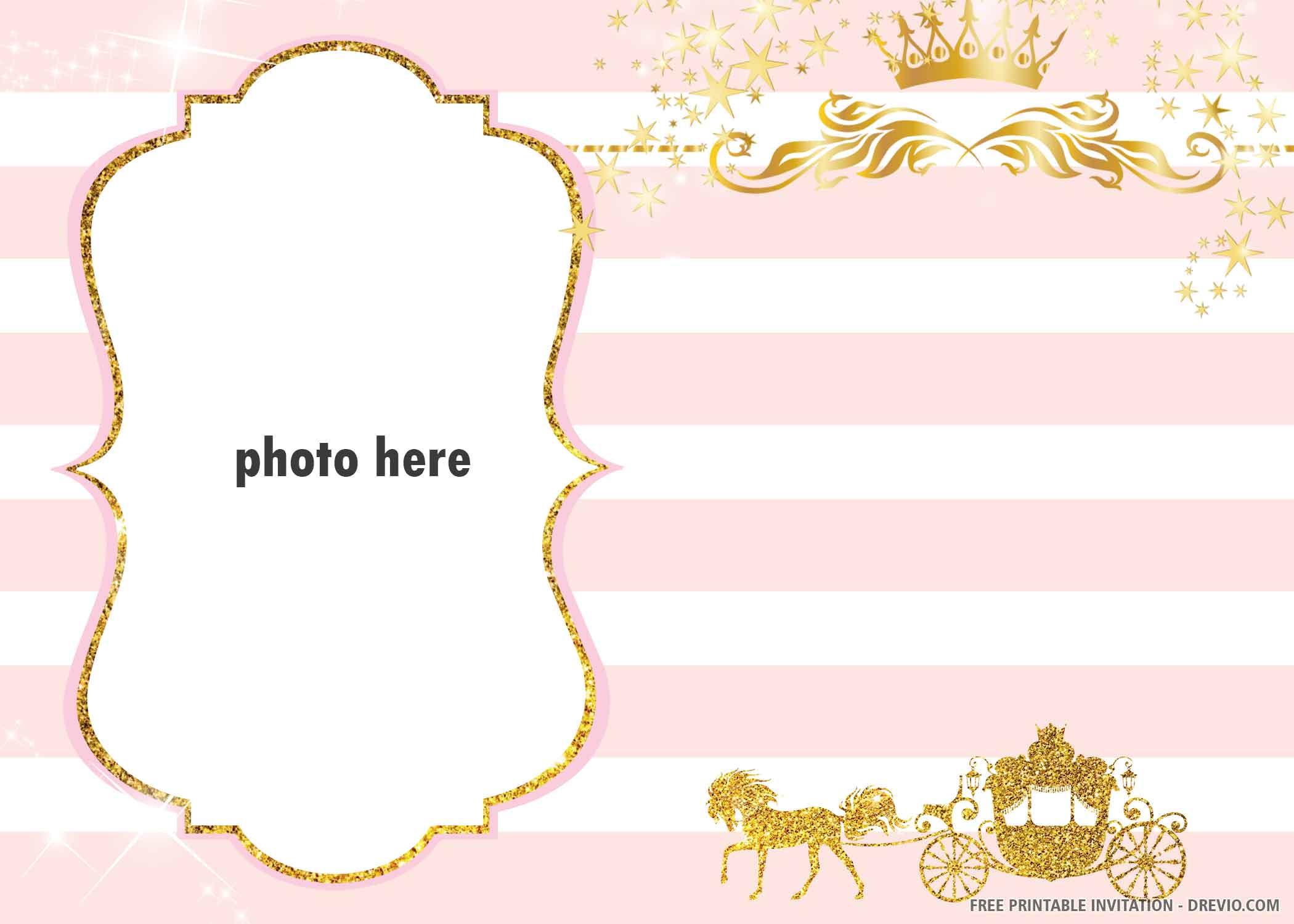 free printable crown prince invitation