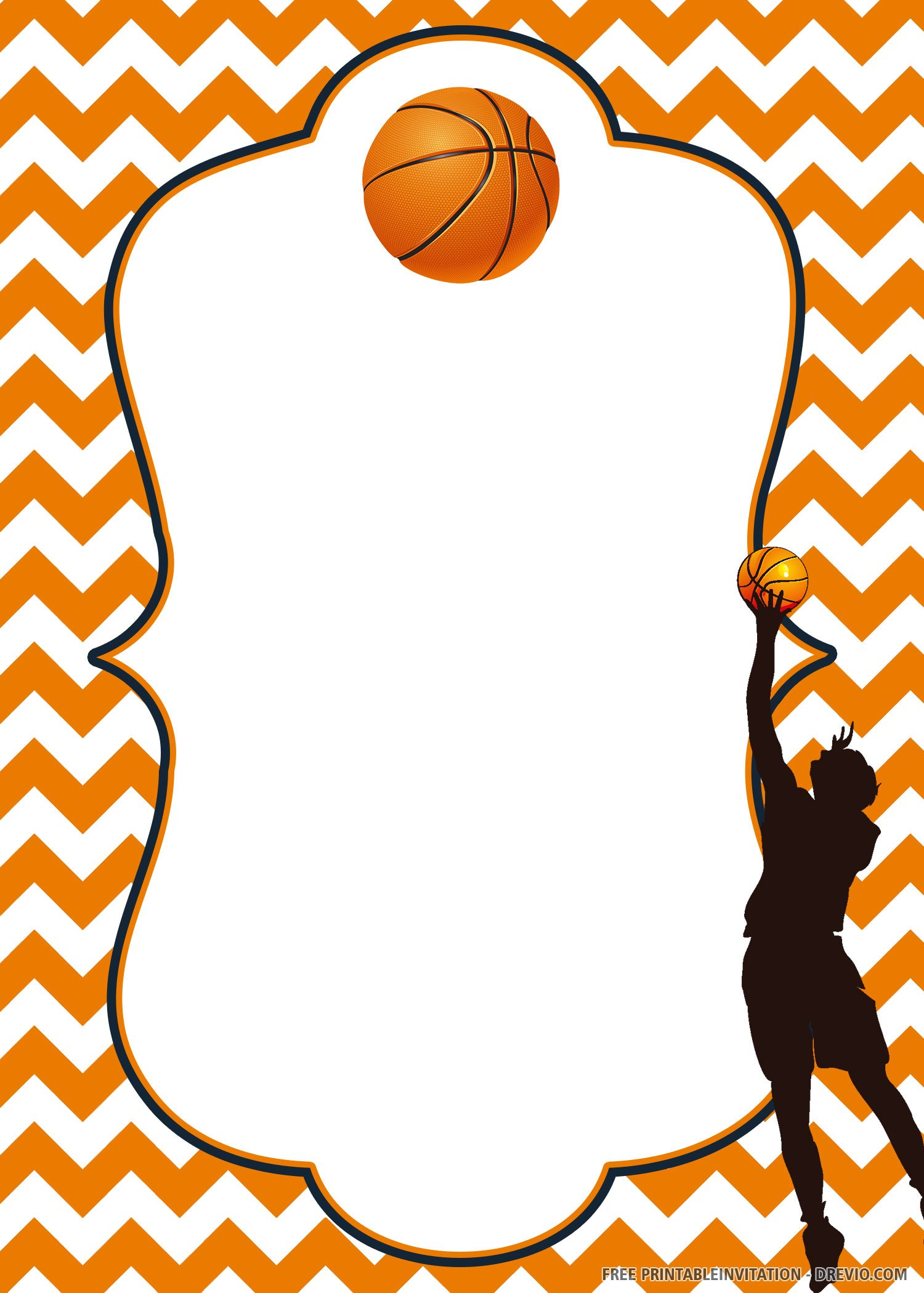 Free Printable Basketball Invitation Templates