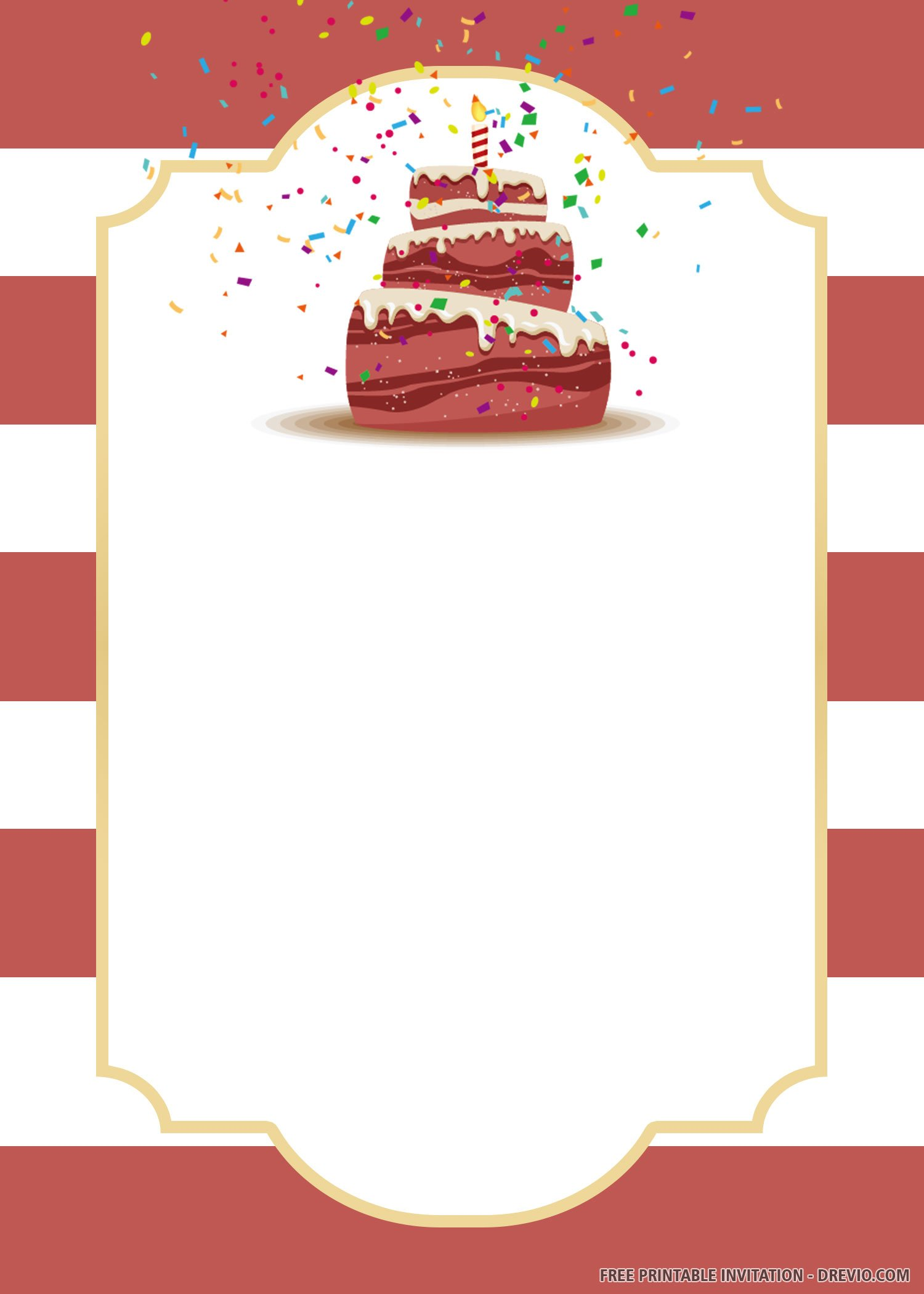 Free Printable Cake Invitation Templates