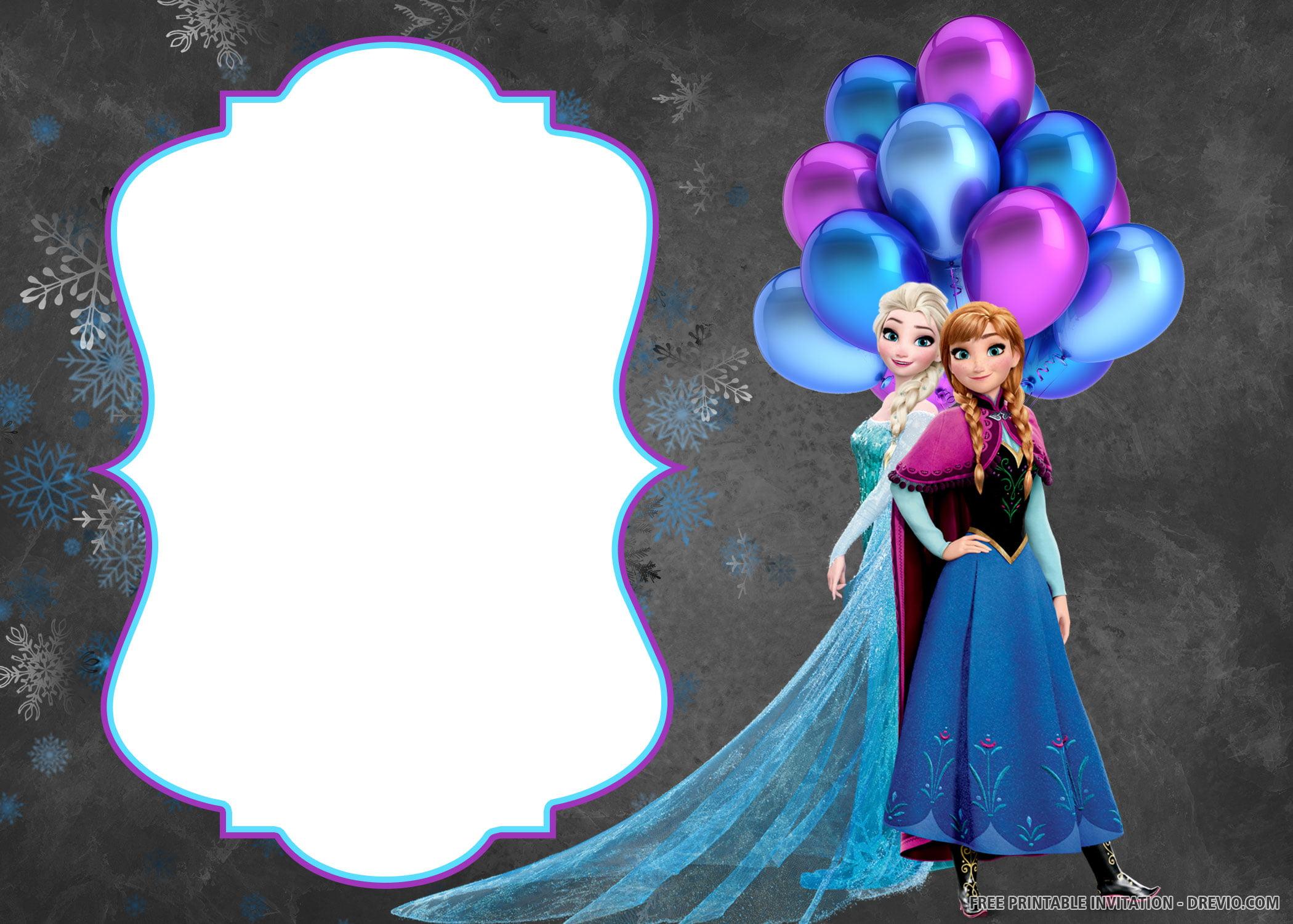 Free Printable Disney Frozen Invitation Templates