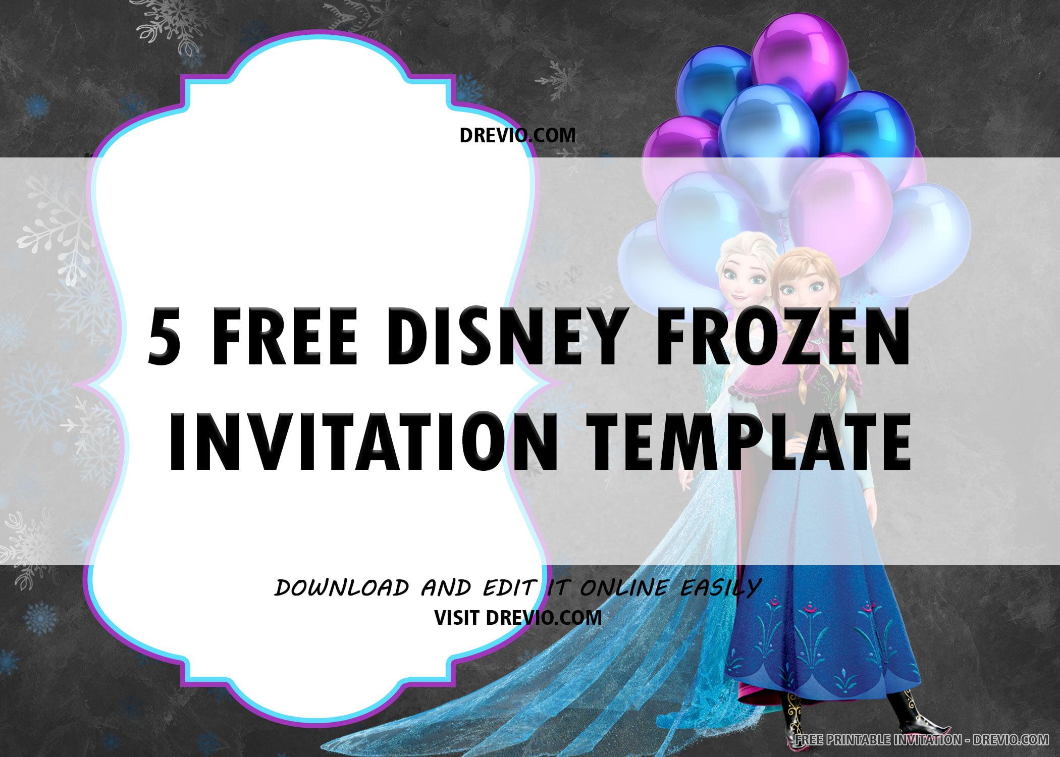 disney frozen chalkboard invite 6