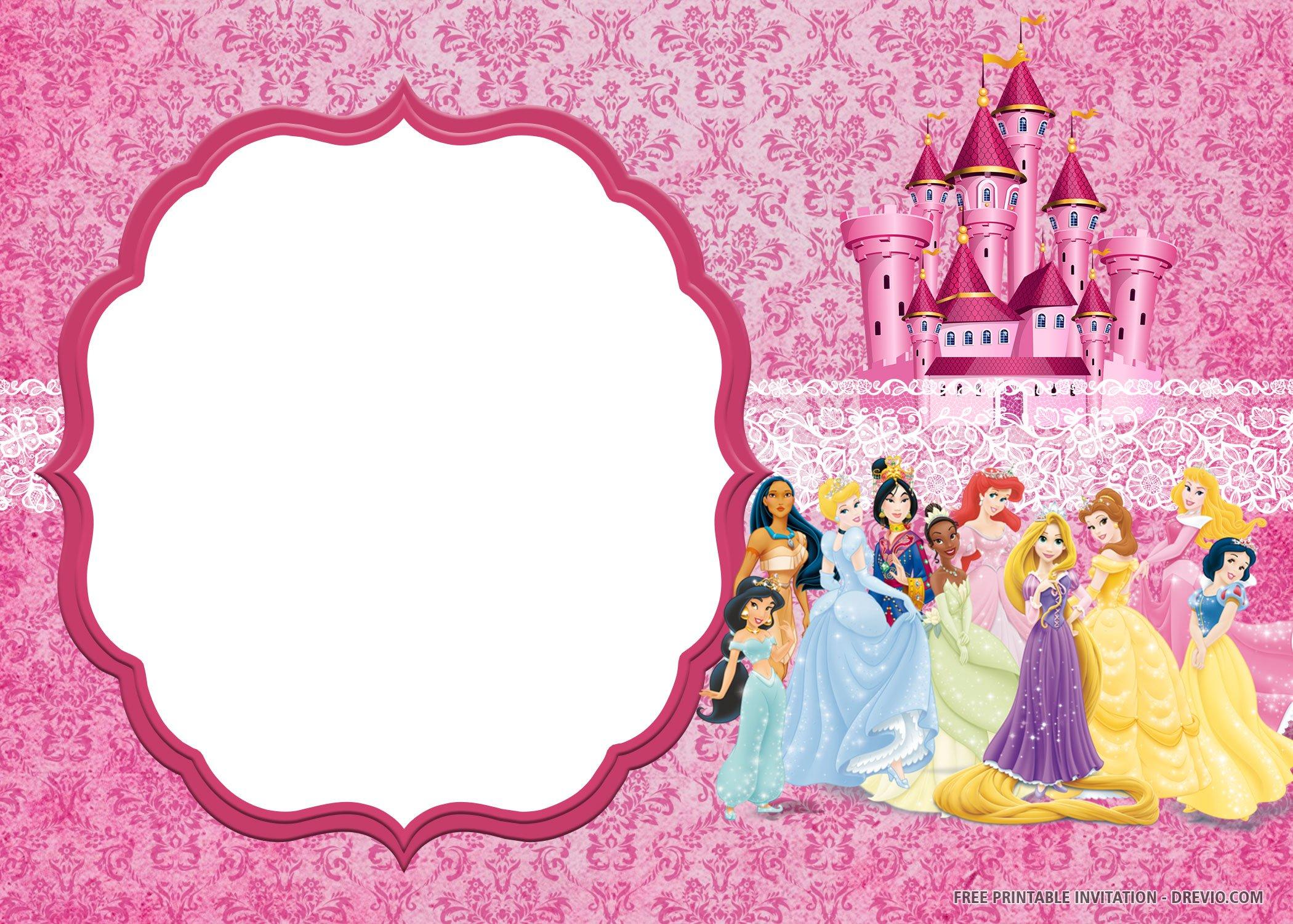 Free Printable Disney Princess Invitation Templates
