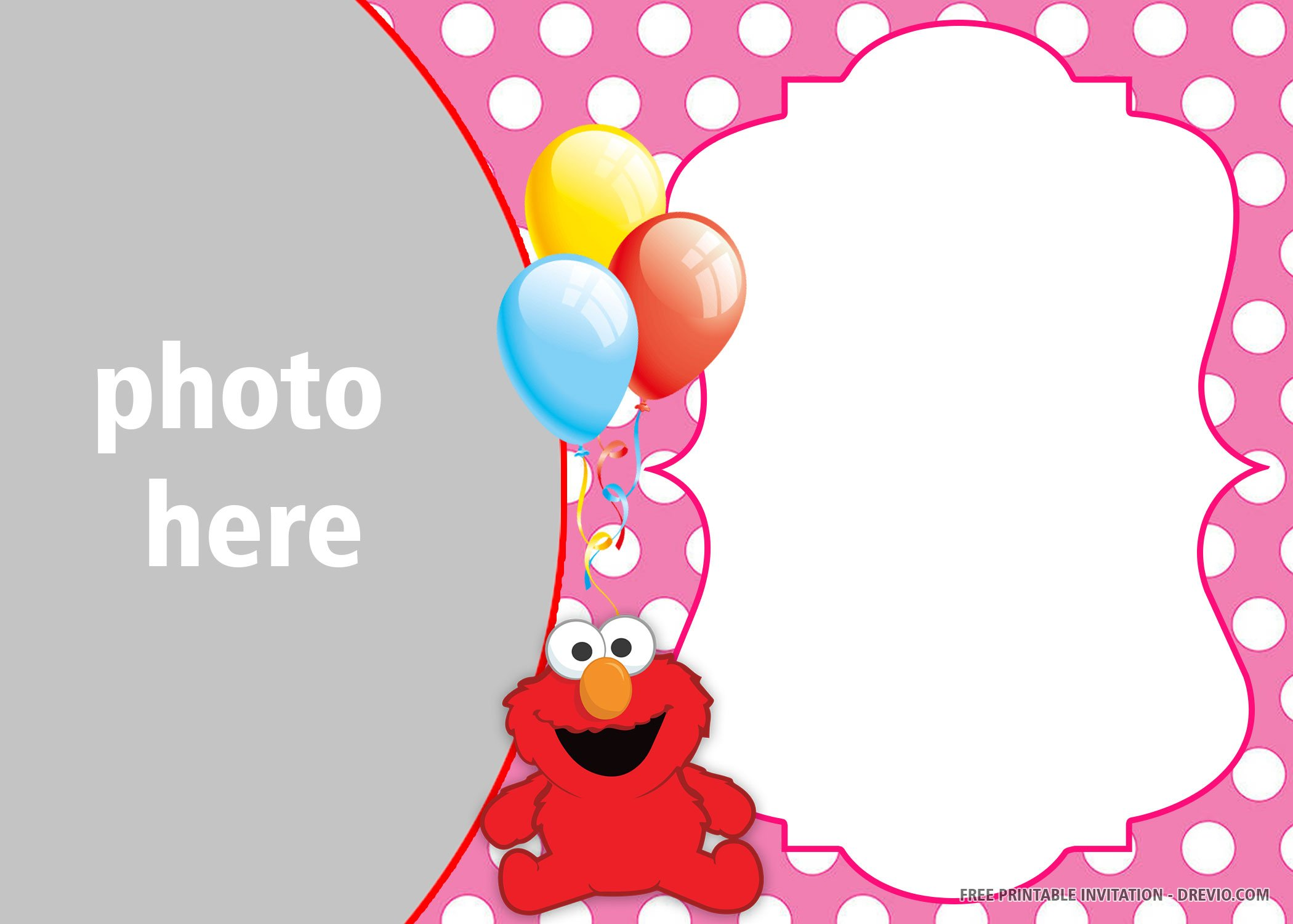 Free Printable Elmo Birthday Invitation Templates