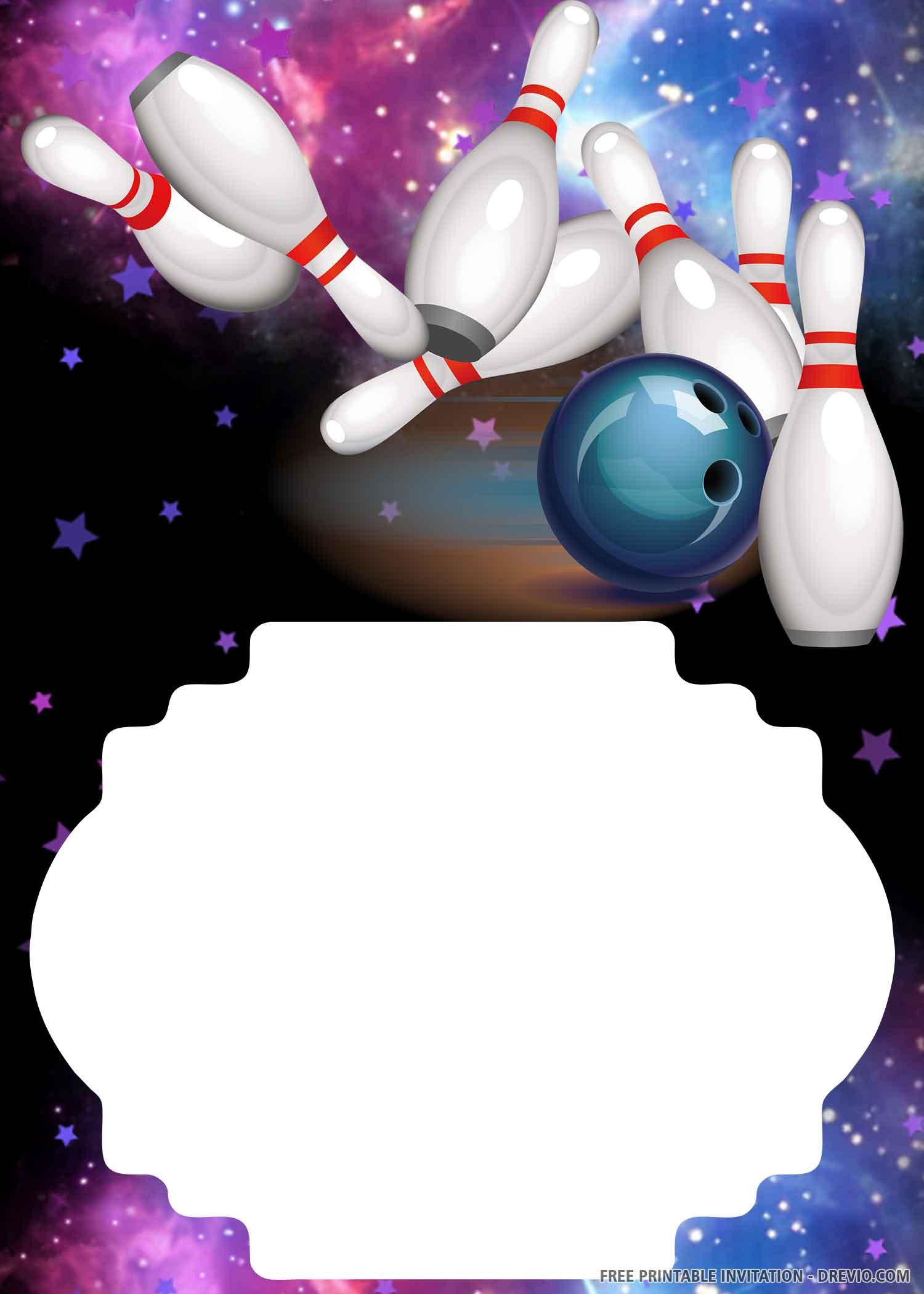 invitation bowling birthday party 2