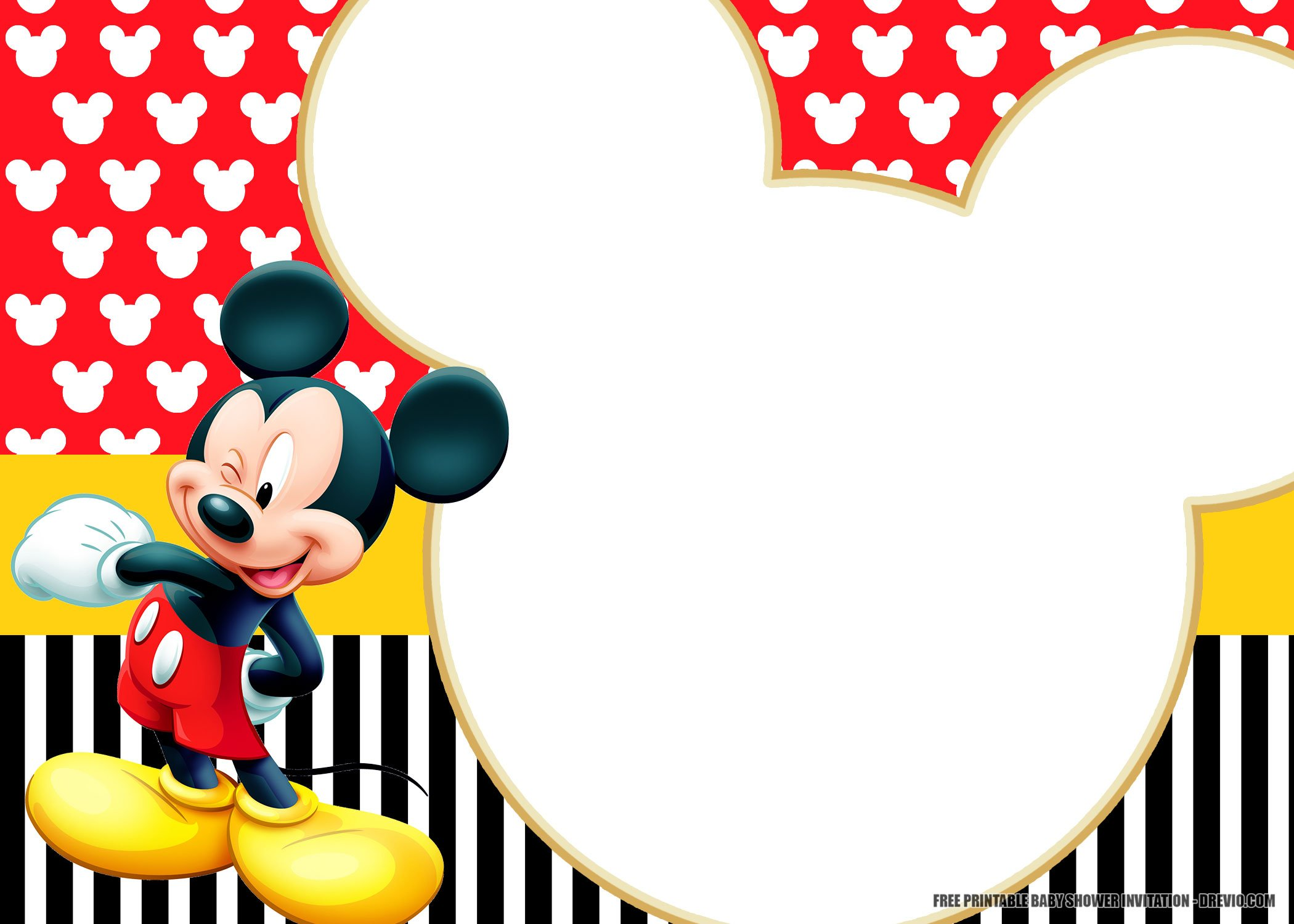 Free Printable Mickey Mouse Invitation Templates