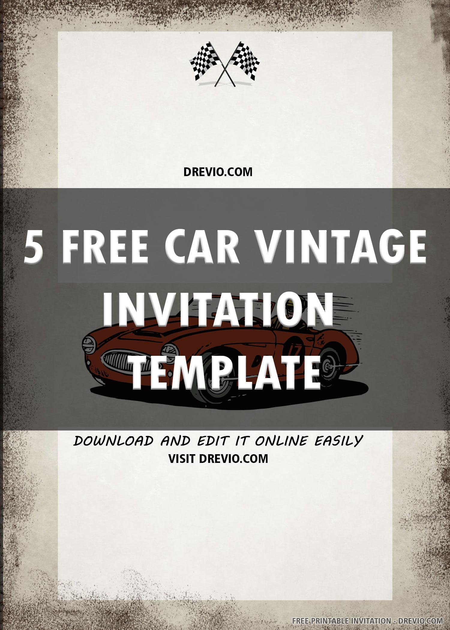 race car invitation 6 download