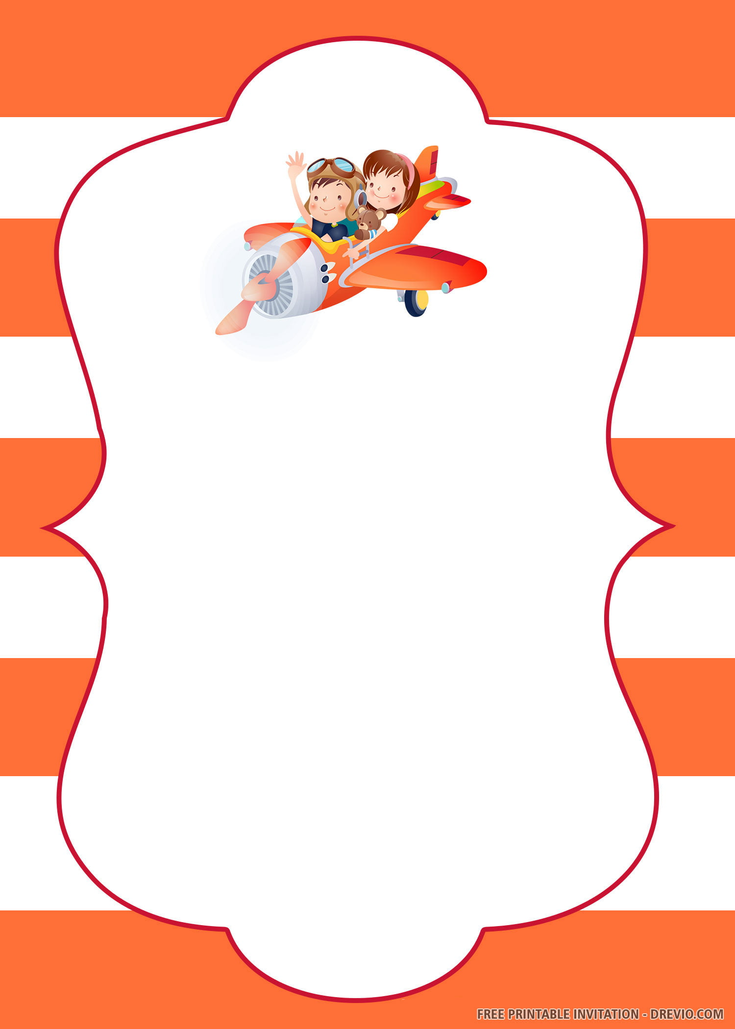 Free Printable Up Up And Away Airplane Birthday