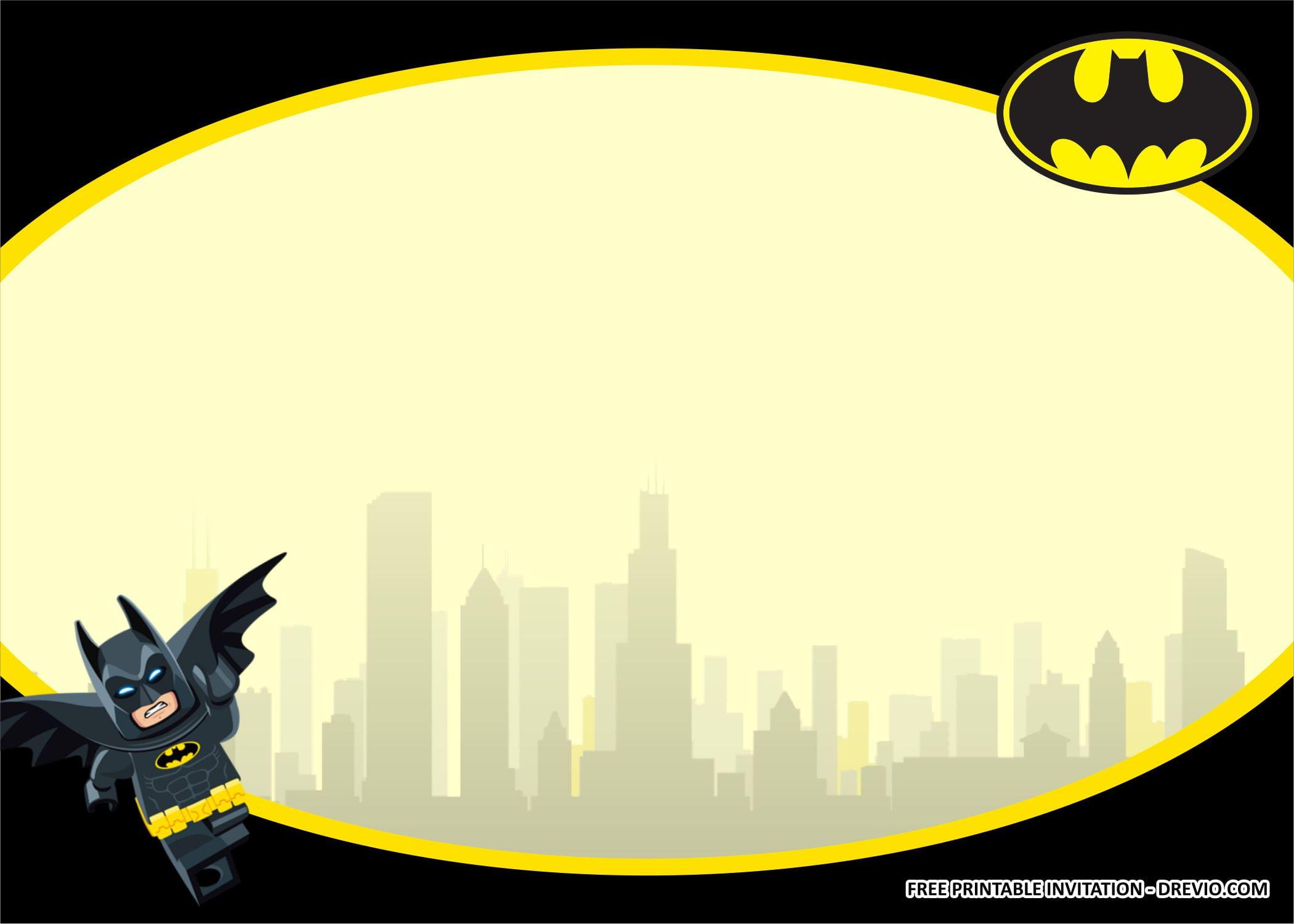lego batman birthday kits templates