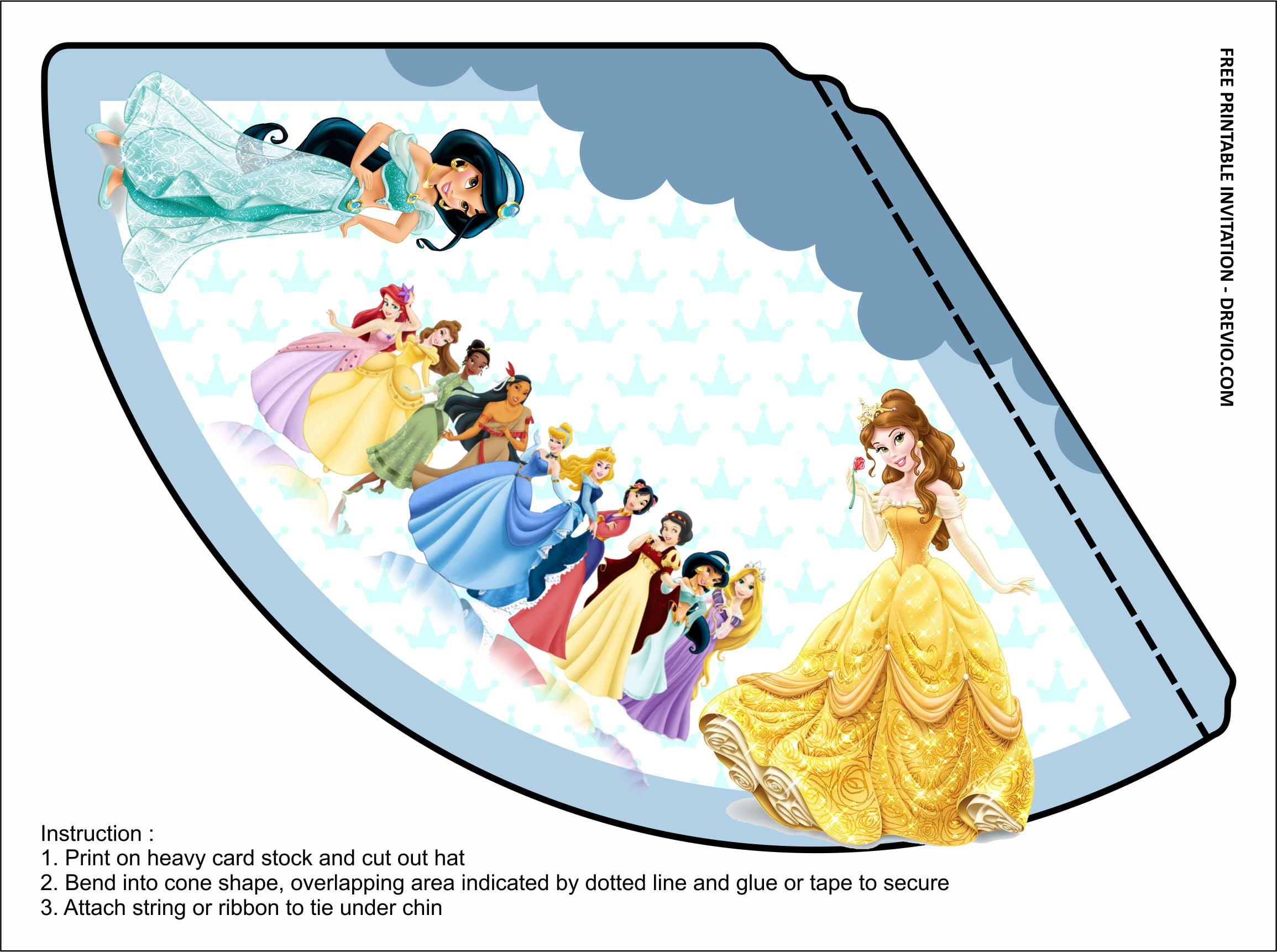 princess birthday party kits templates