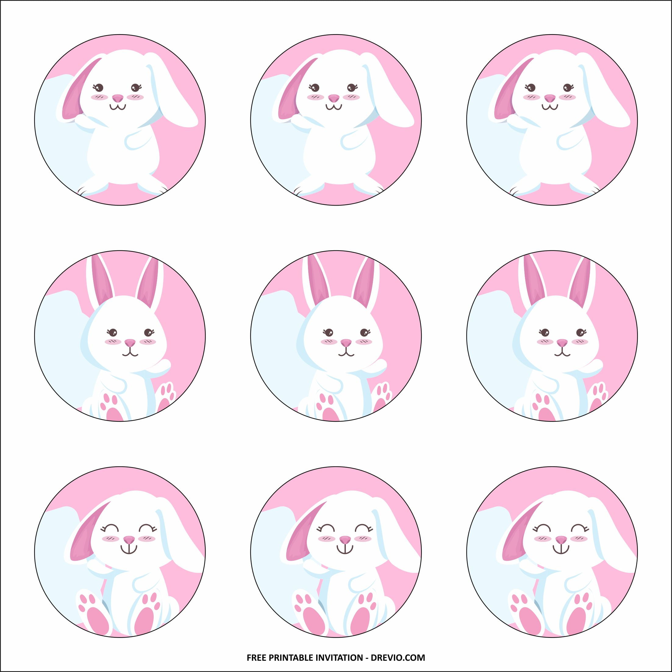 rabbit cupcake toppers templates