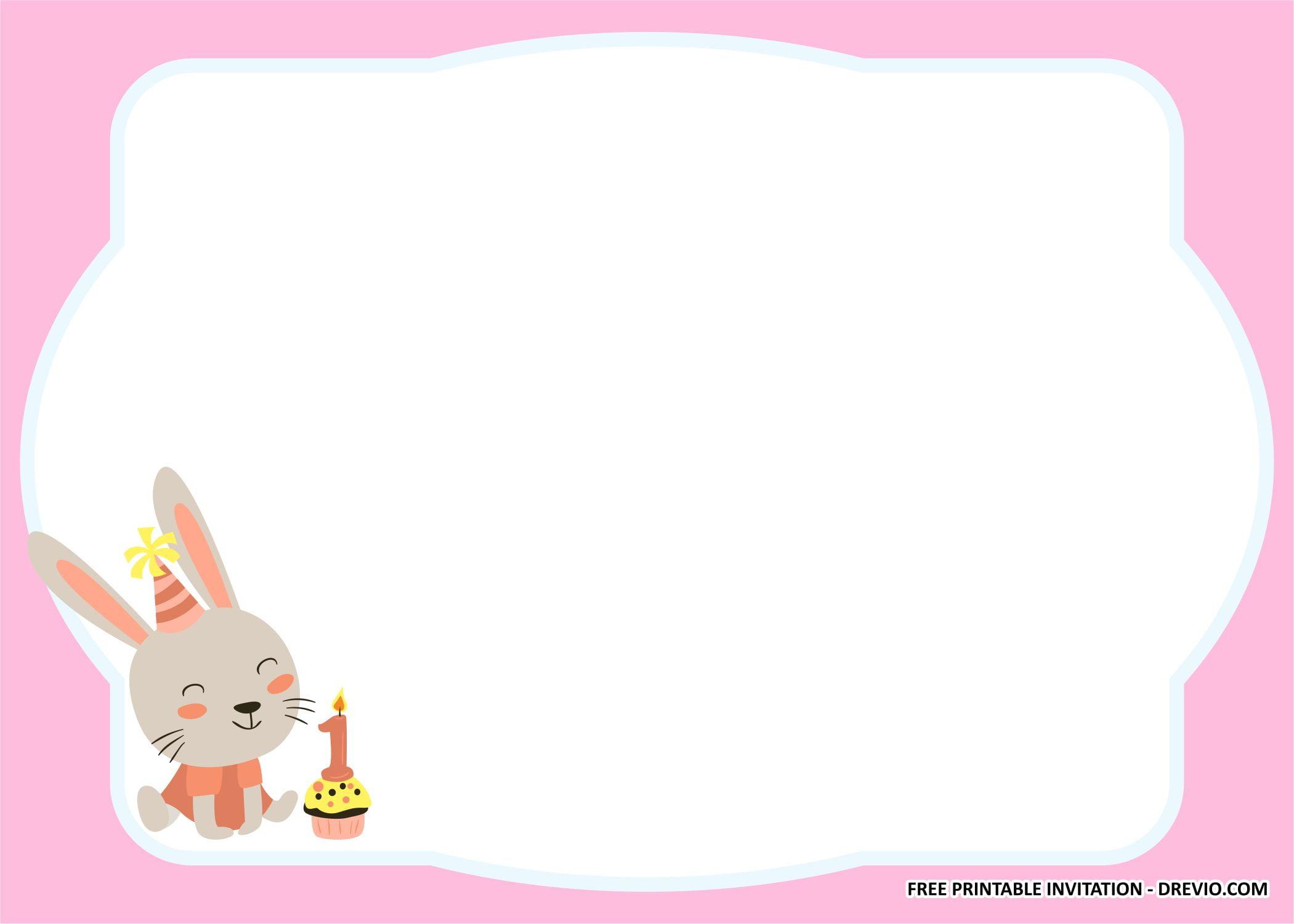 rabbit invitation templates 1