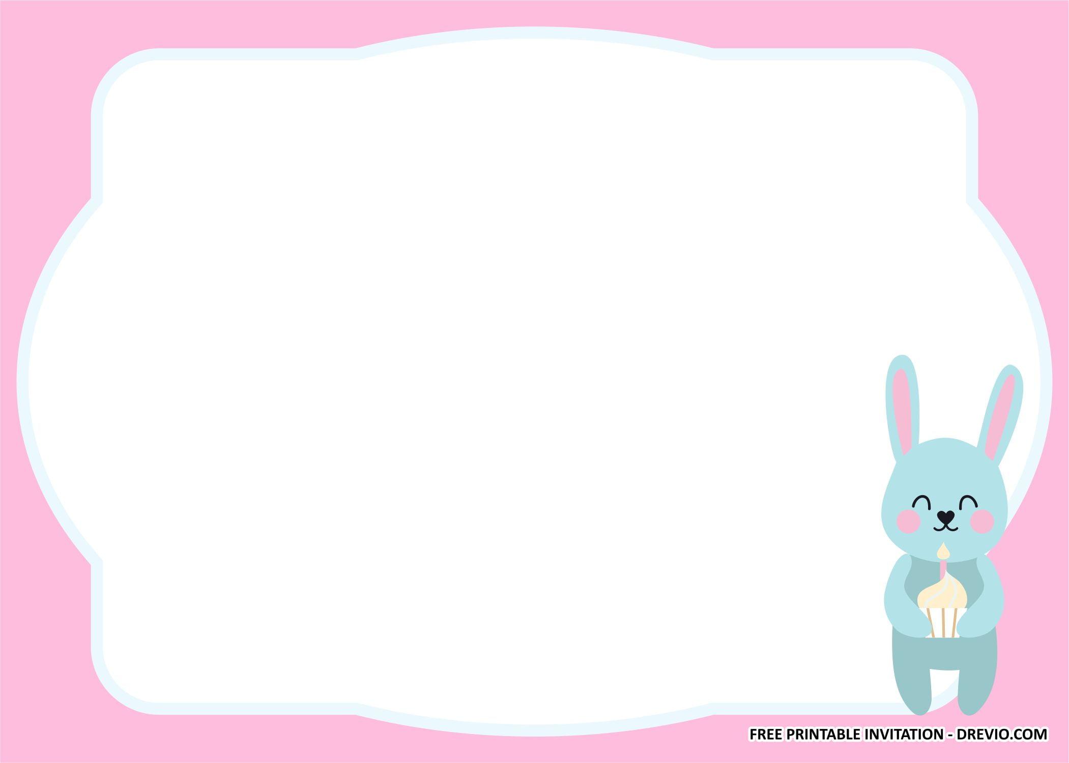 rabbit invitation templates 2