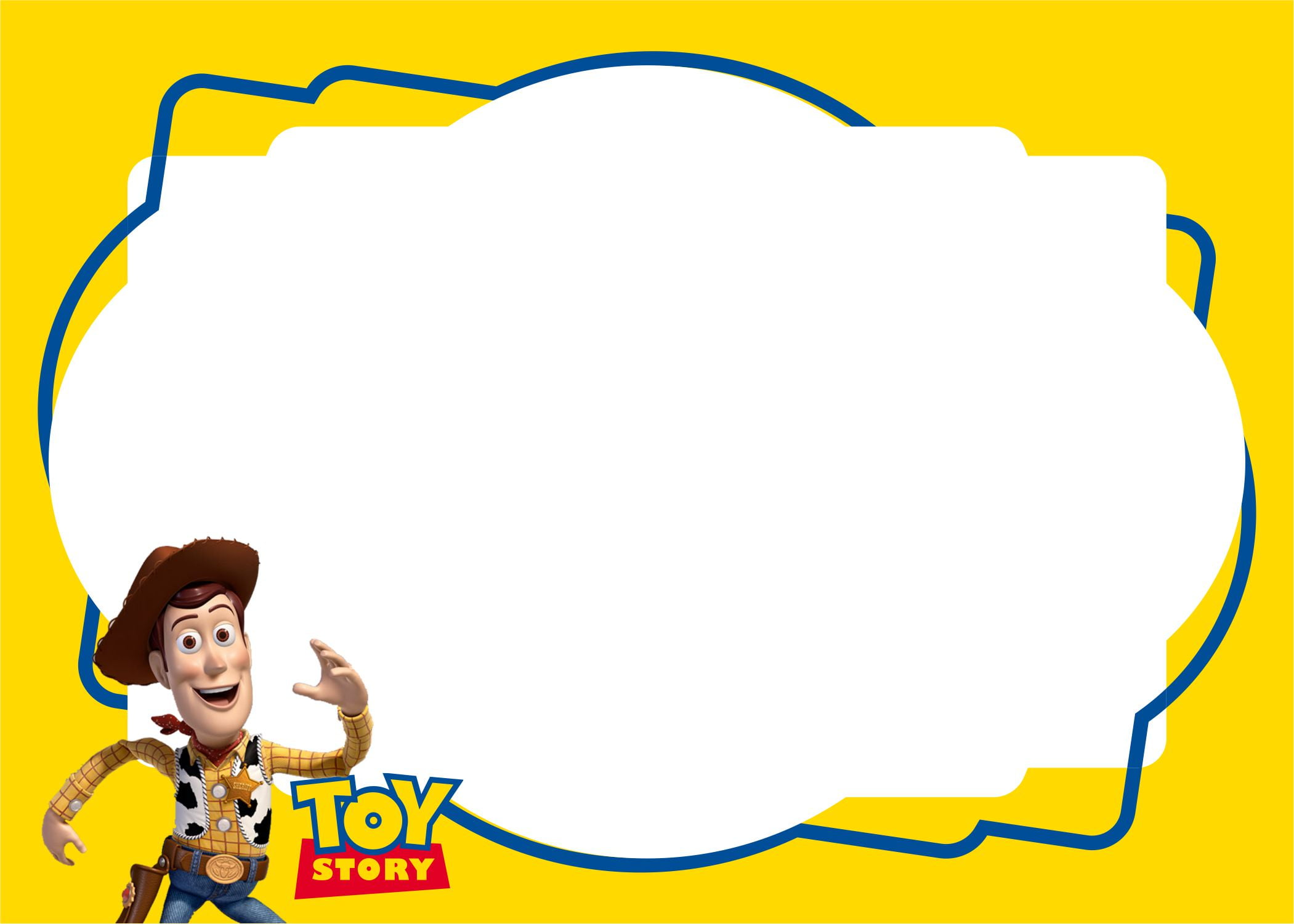 toy story birthday party kits template