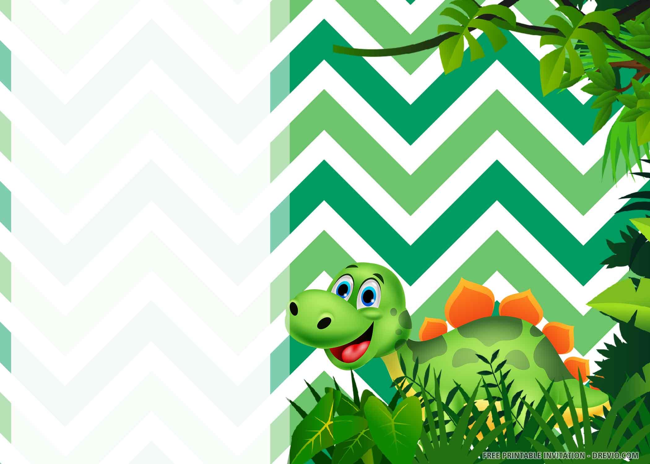 dinosaur party dinosaur invitation card