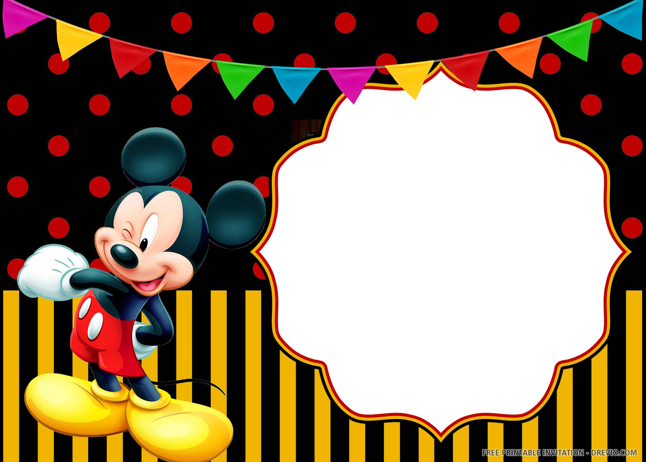 free printable cheerful mickey mouse