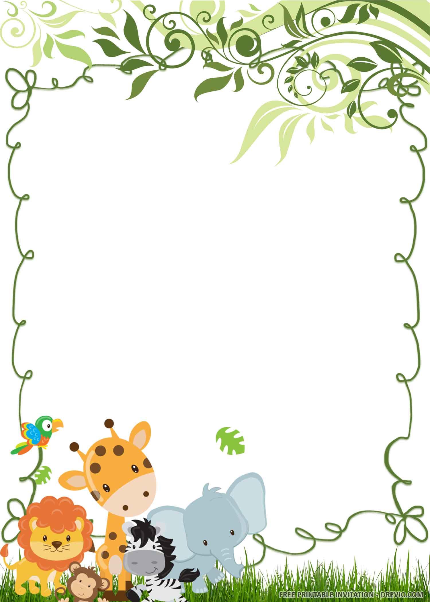 Free Printable Wild One Birthday Invitation Templates