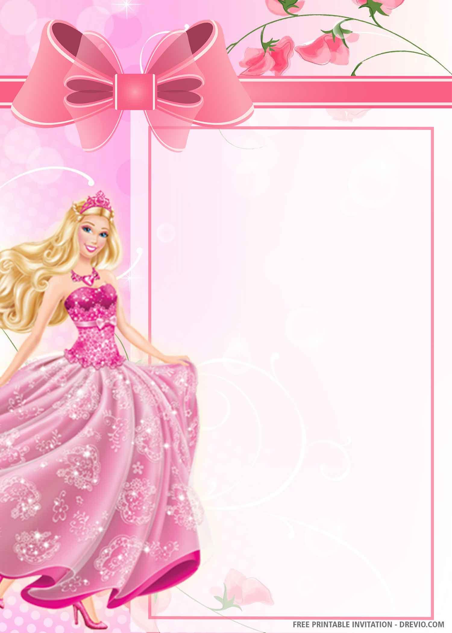 barbie dream house birthday invitation