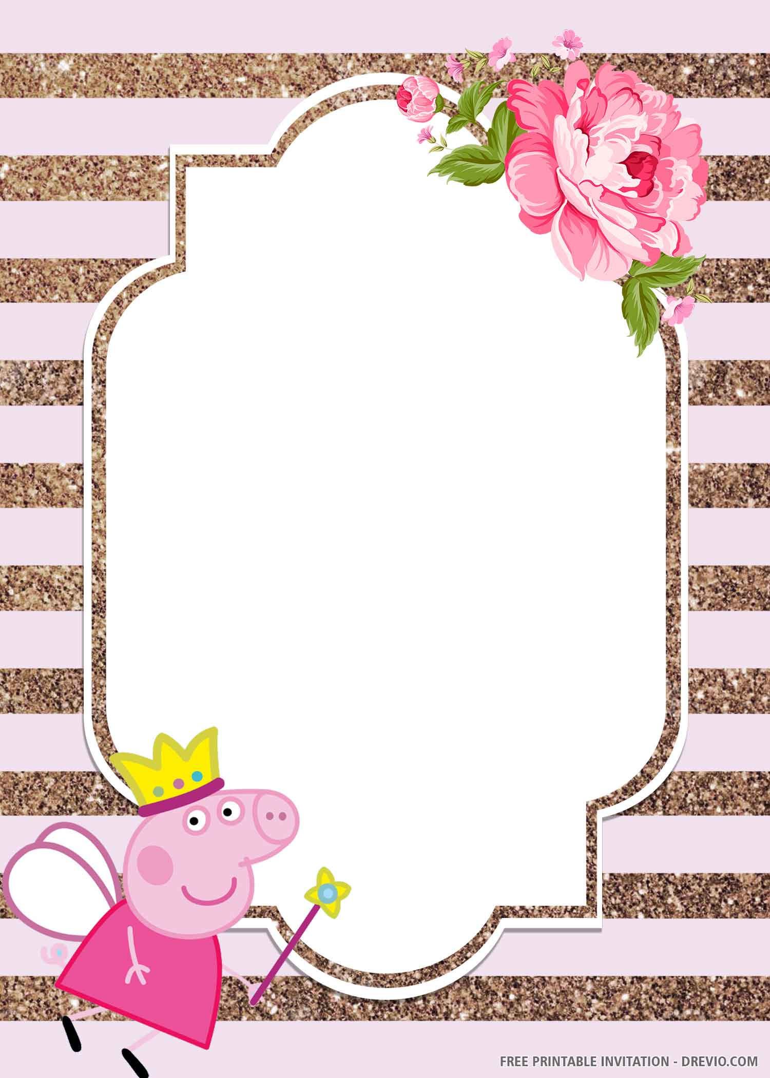 peppa pig birthday invitation templates