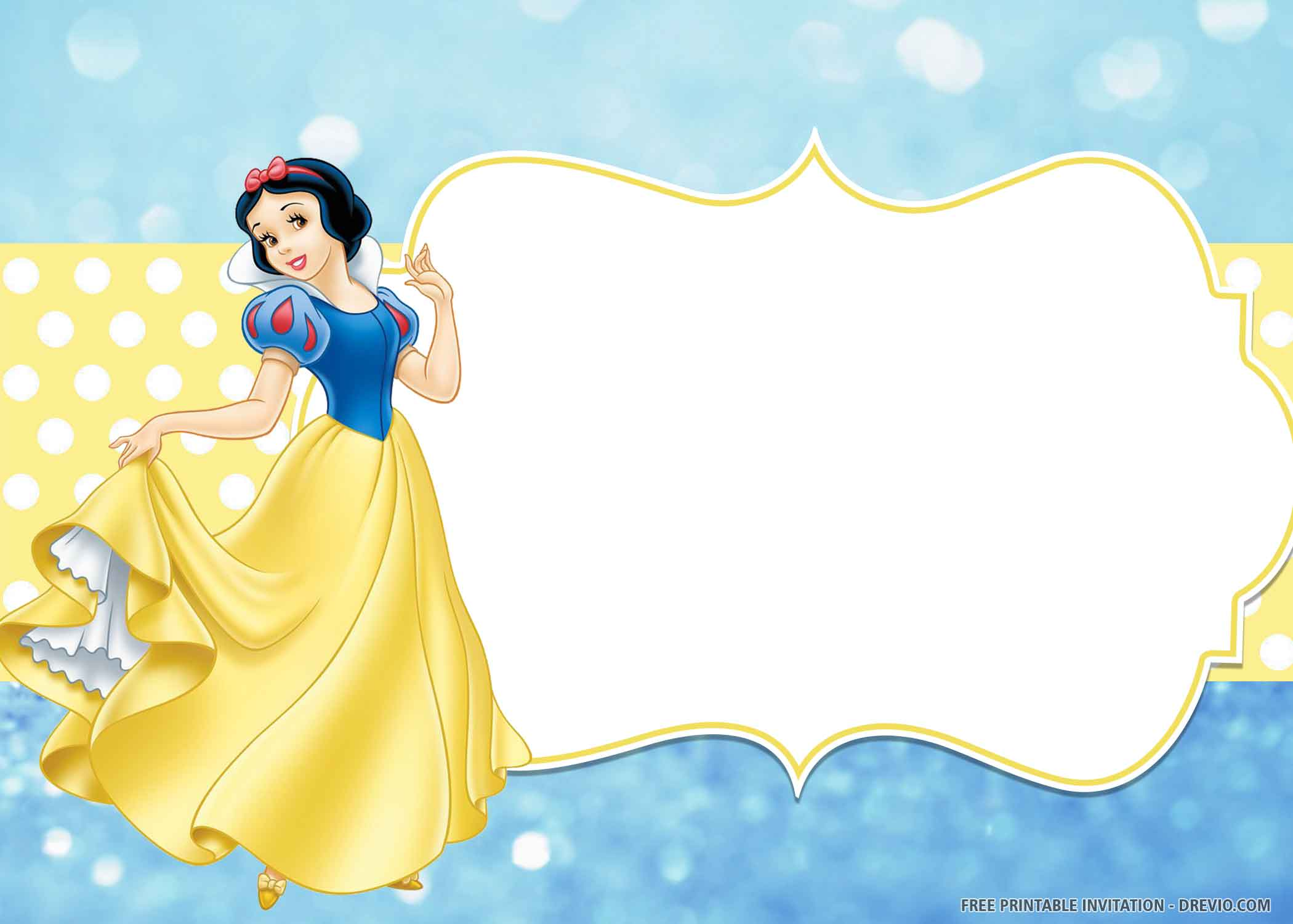 lovely poses of snow white birthday