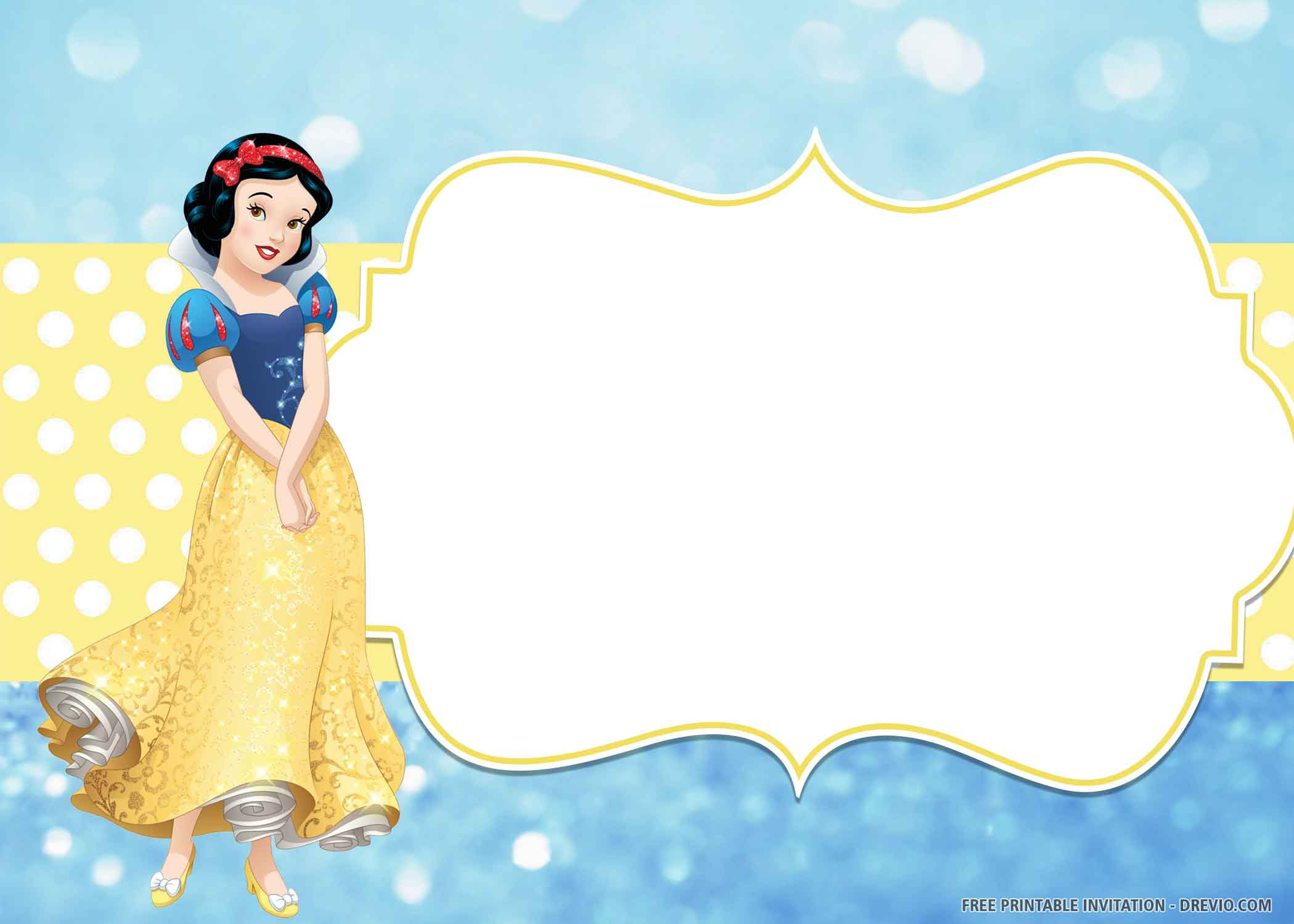 snow white birthday princess background