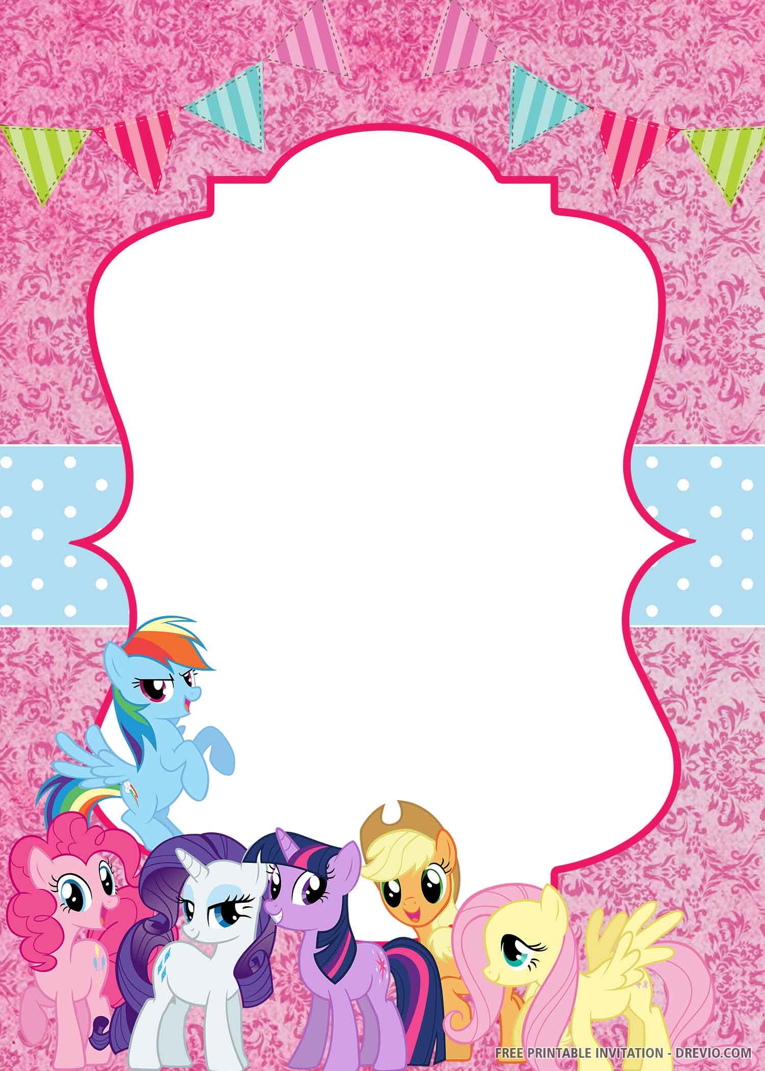 my little pony invitation birthday