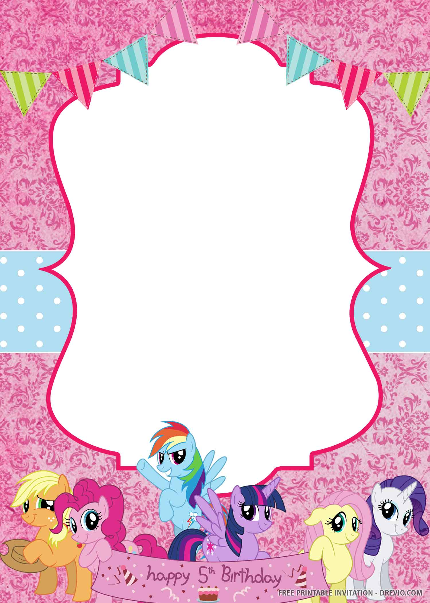 my little pony invitation templates