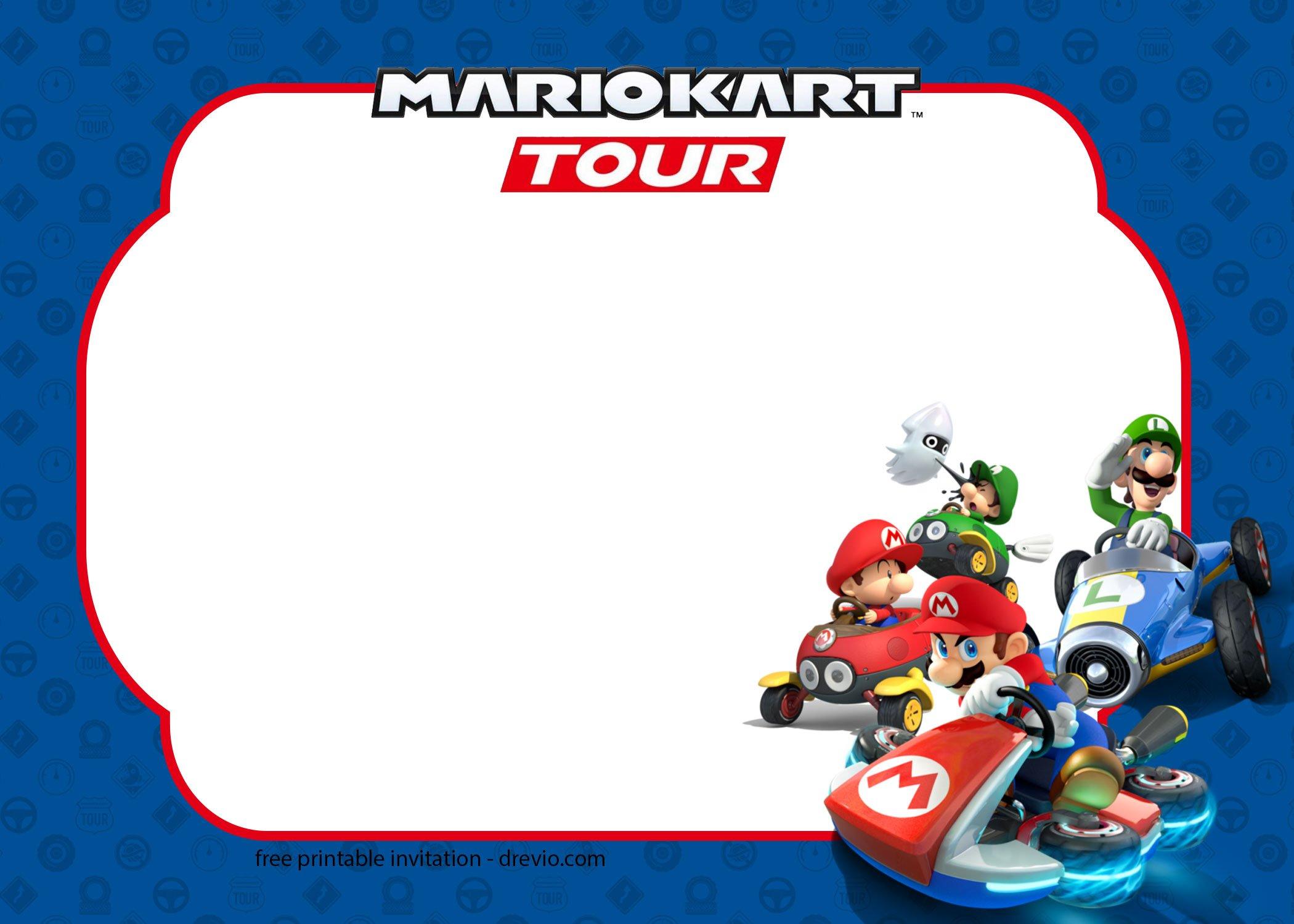 12 free mario kart tour invitation