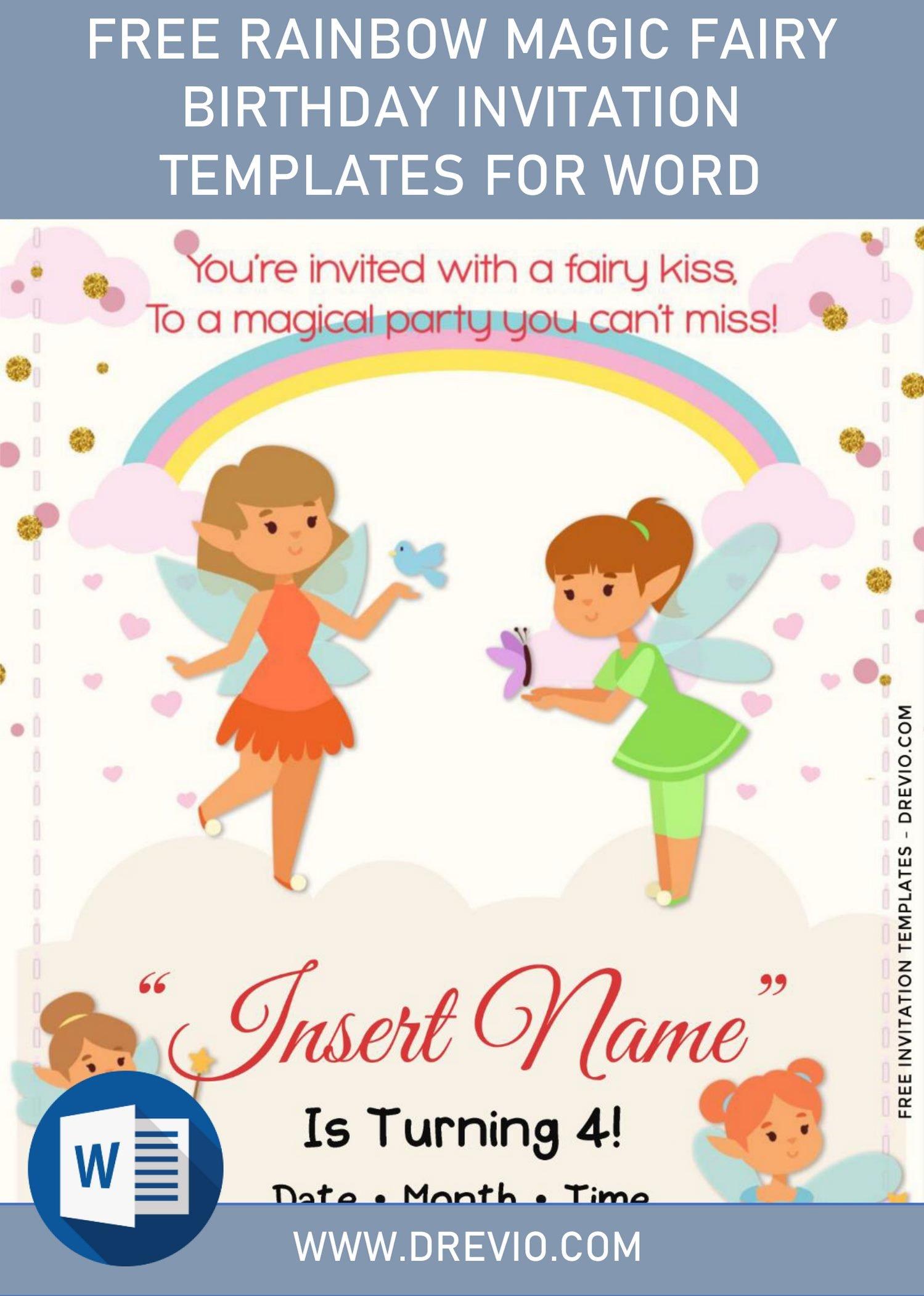 free rainbow magic fairy birthday