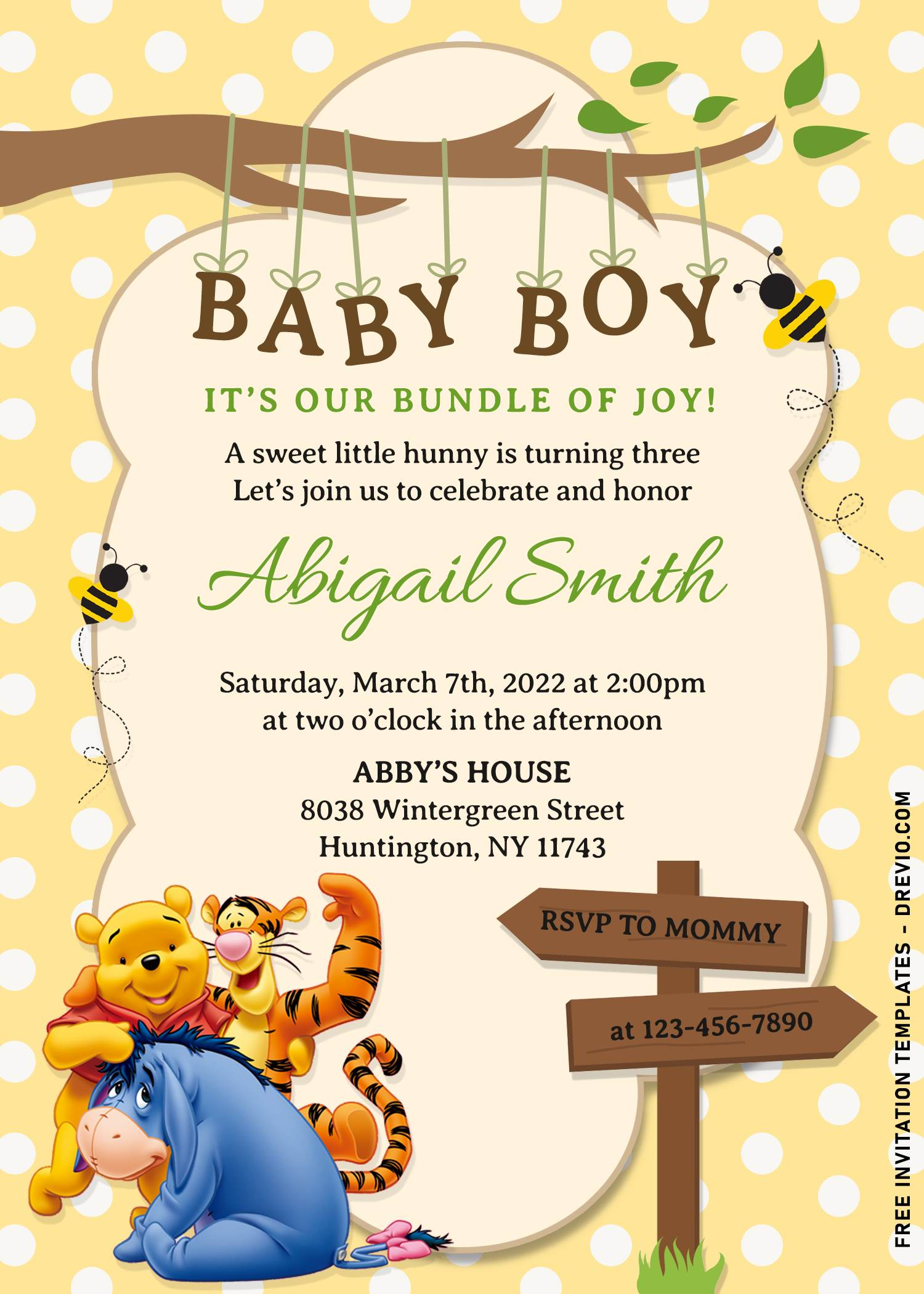 11 winnie the pooh birthday invitation