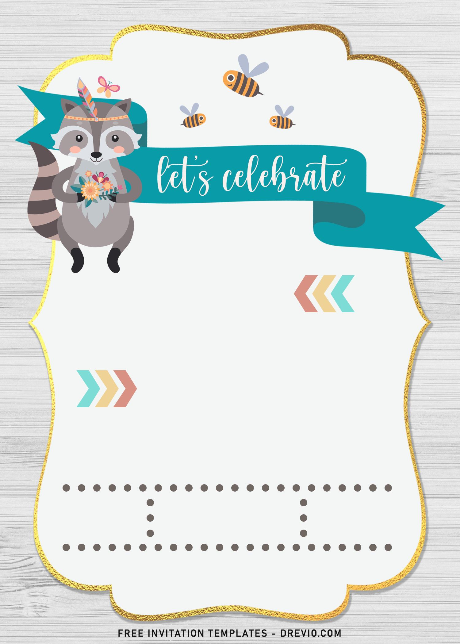 7 boho woodland animals birthday